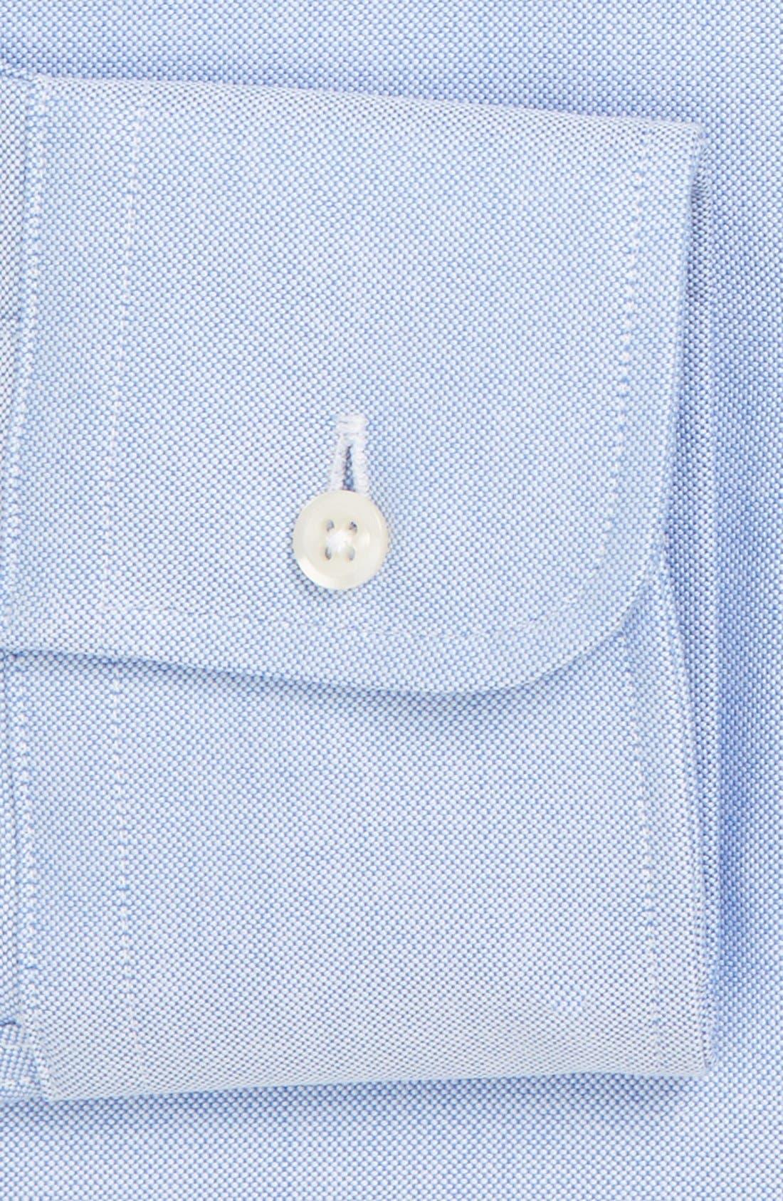 GITMAN, 'Cambridge Oxford' Regular Fit Dress Shirt, Alternate thumbnail 2, color, BLUE