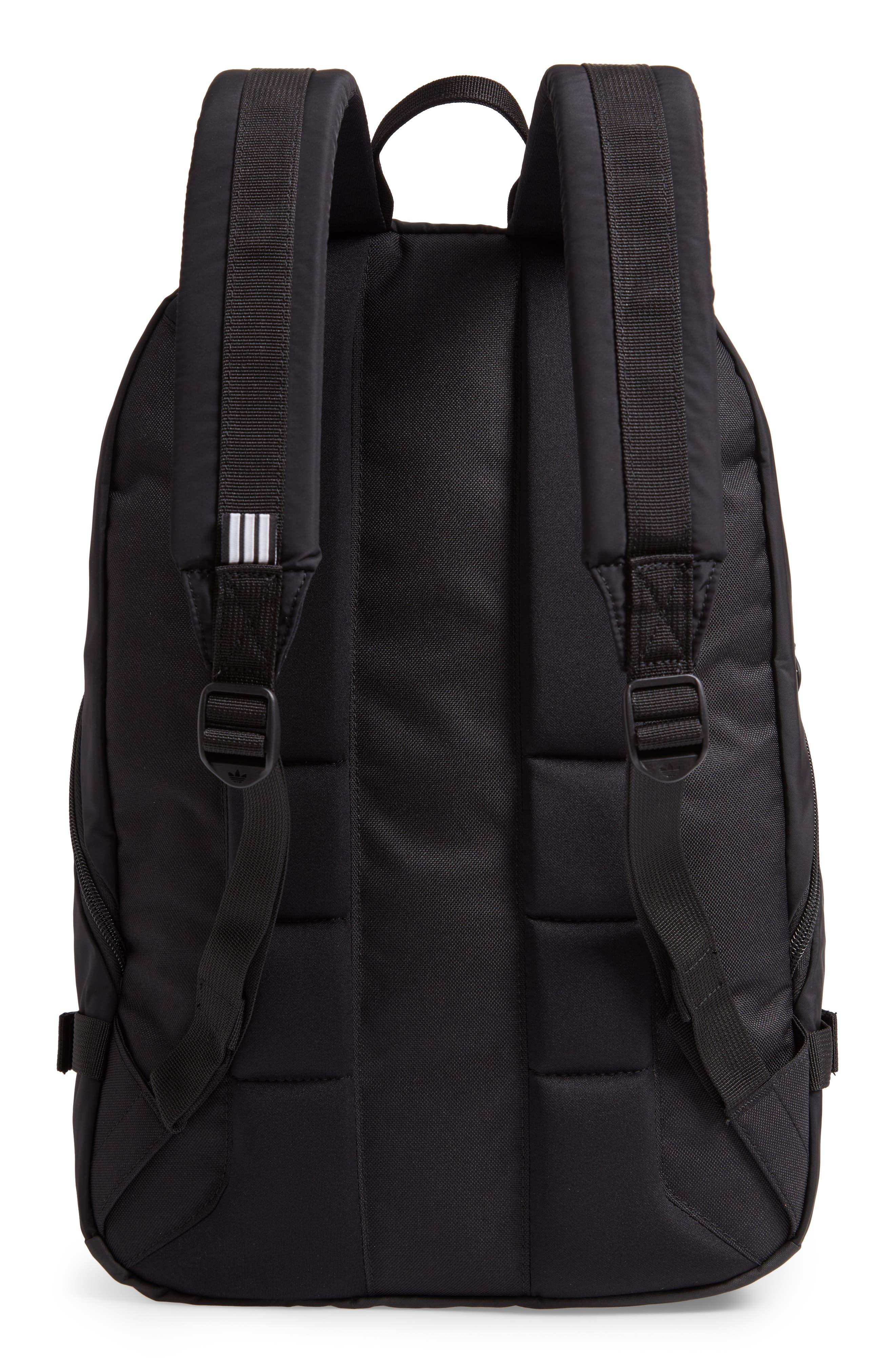 ADIDAS ORIGINALS, EQT Backpack, Alternate thumbnail 4, color, BLACK/ WHITE/ SUB GREEN