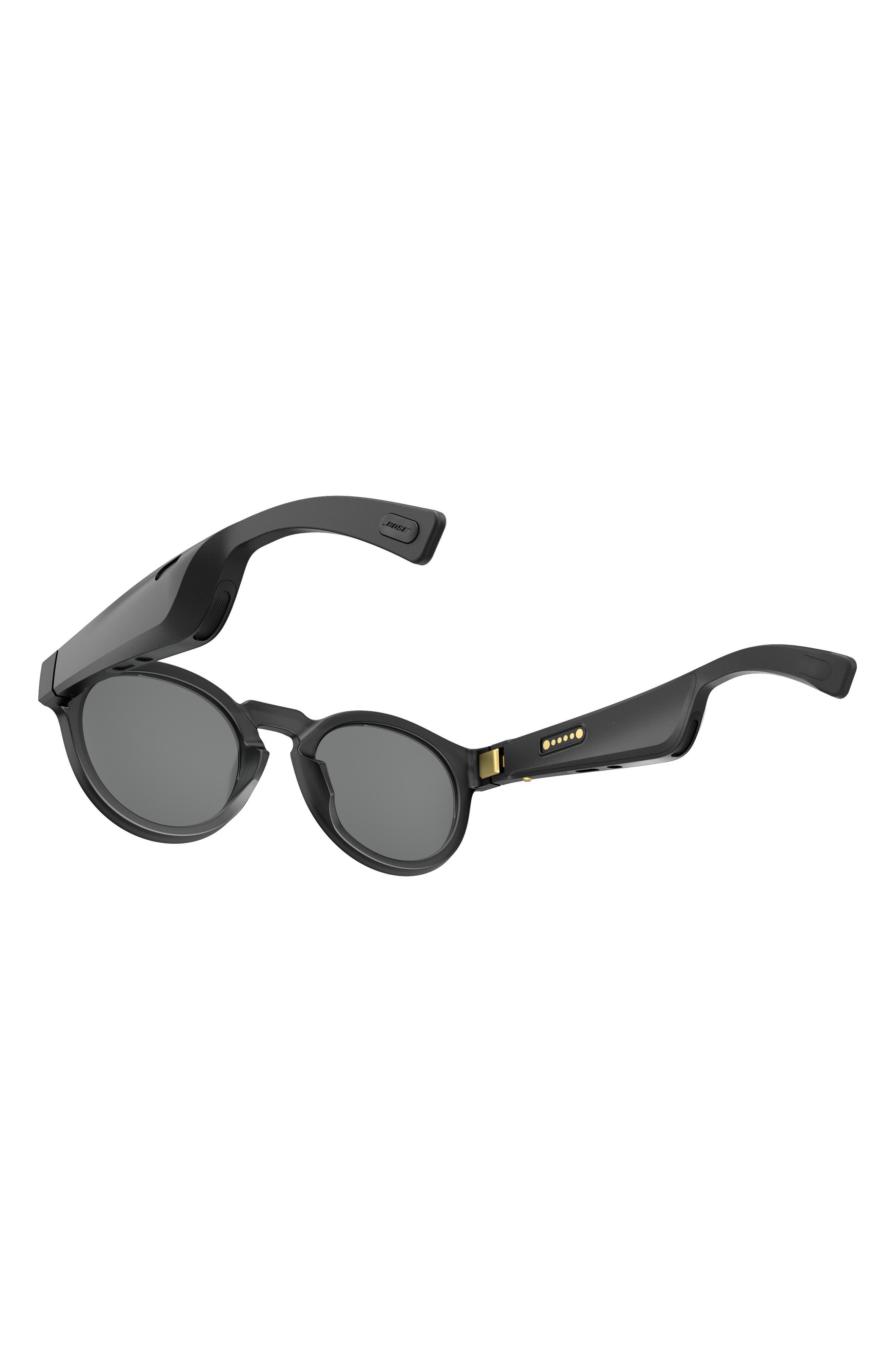 BOSE<SUP>®</SUP>, Frames Rondo 50mm Audio Sunglasses, Alternate thumbnail 2, color, BLACK