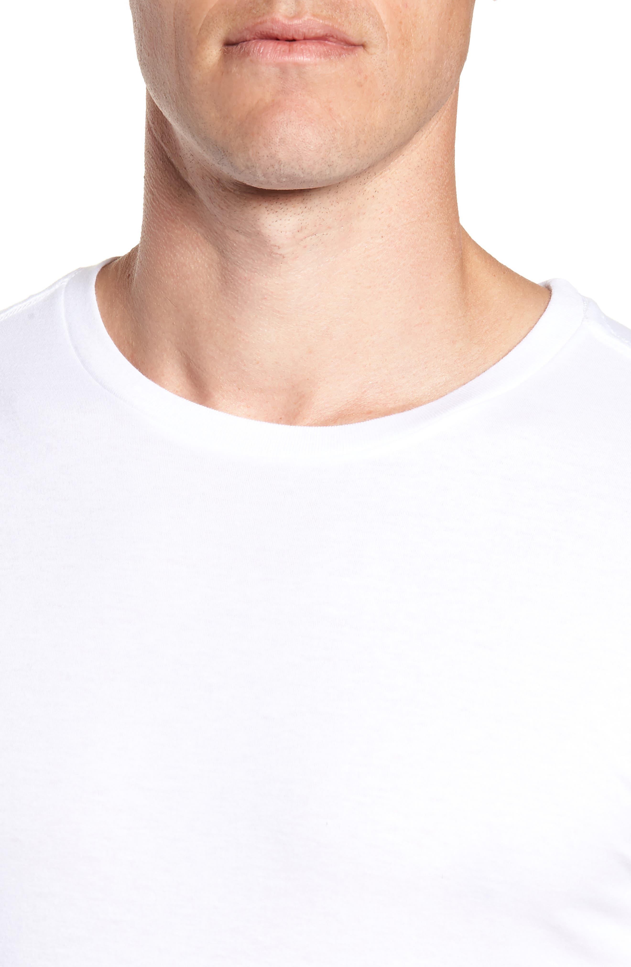 LAUREN RALPH LAUREN, Polo Ralph Lauren 3-Pack Slim Fit Crewneck T-Shirts, Alternate thumbnail 5, color, WHITE
