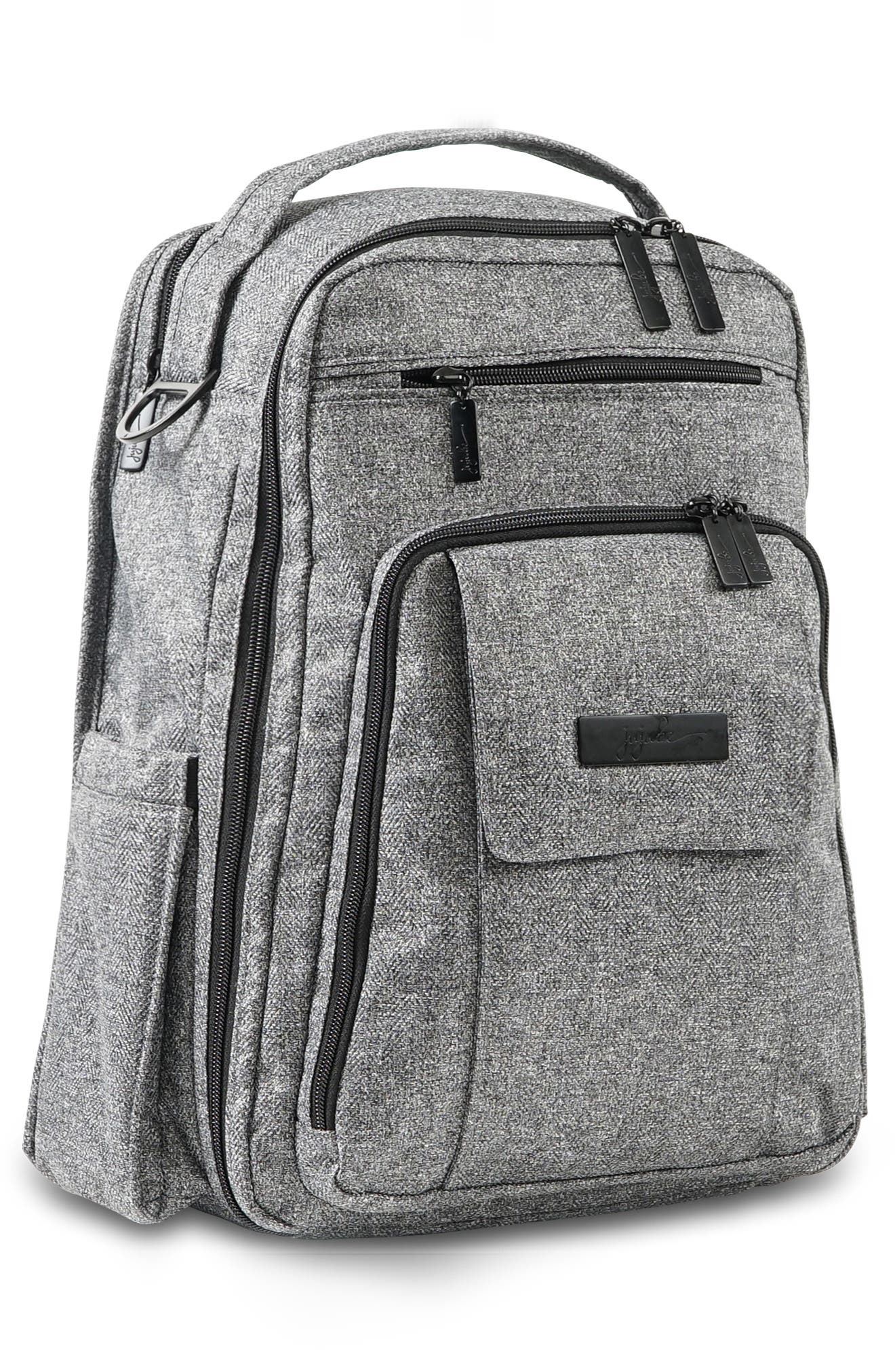 JU-JU-BE, 'Be Right Back - Onyx Collection' Diaper Backpack, Alternate thumbnail 6, color, GRAY MATTER