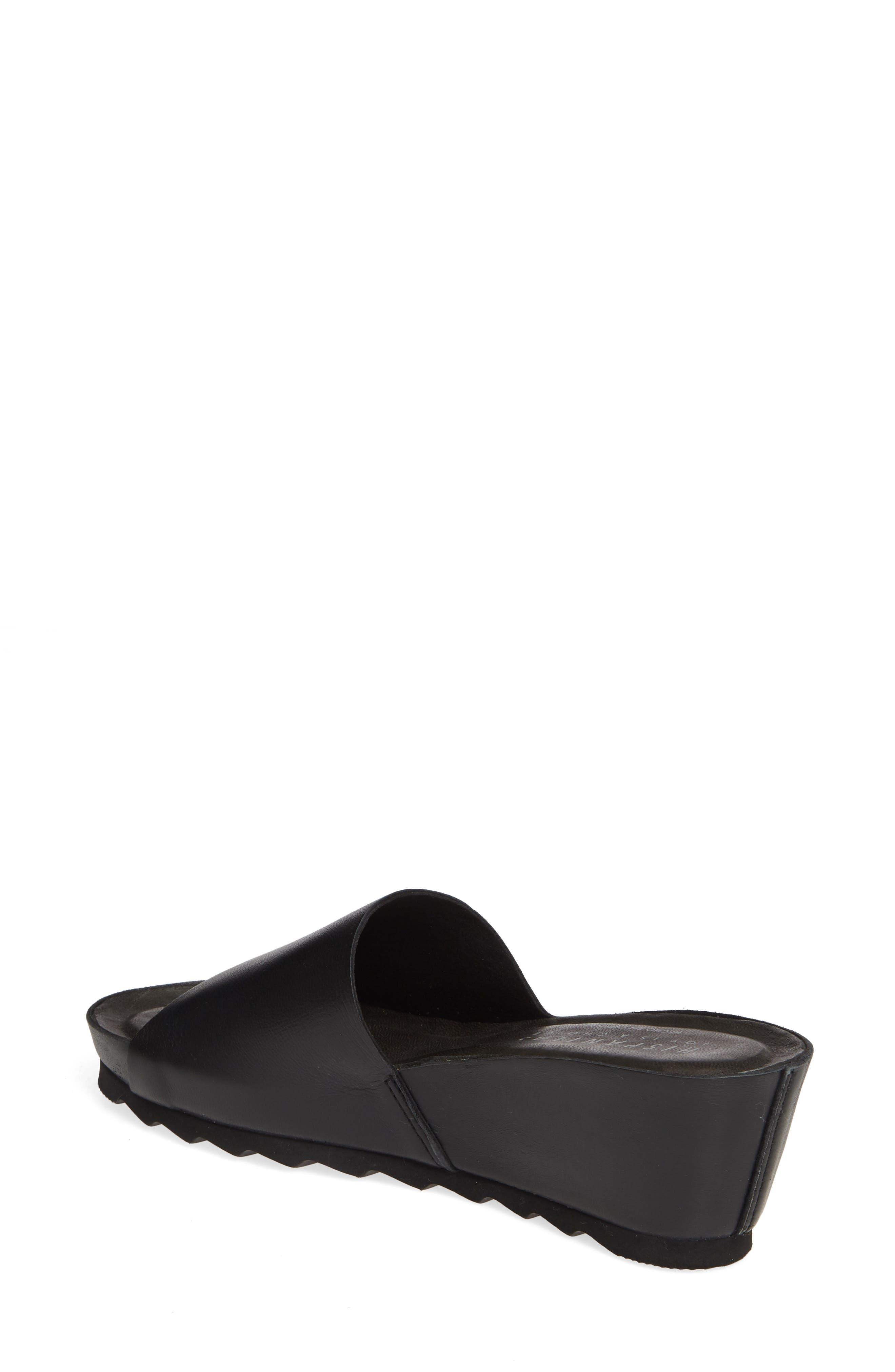 HISPANITAS, Vega Slide Sandal, Alternate thumbnail 2, color, BLACK LEATHER
