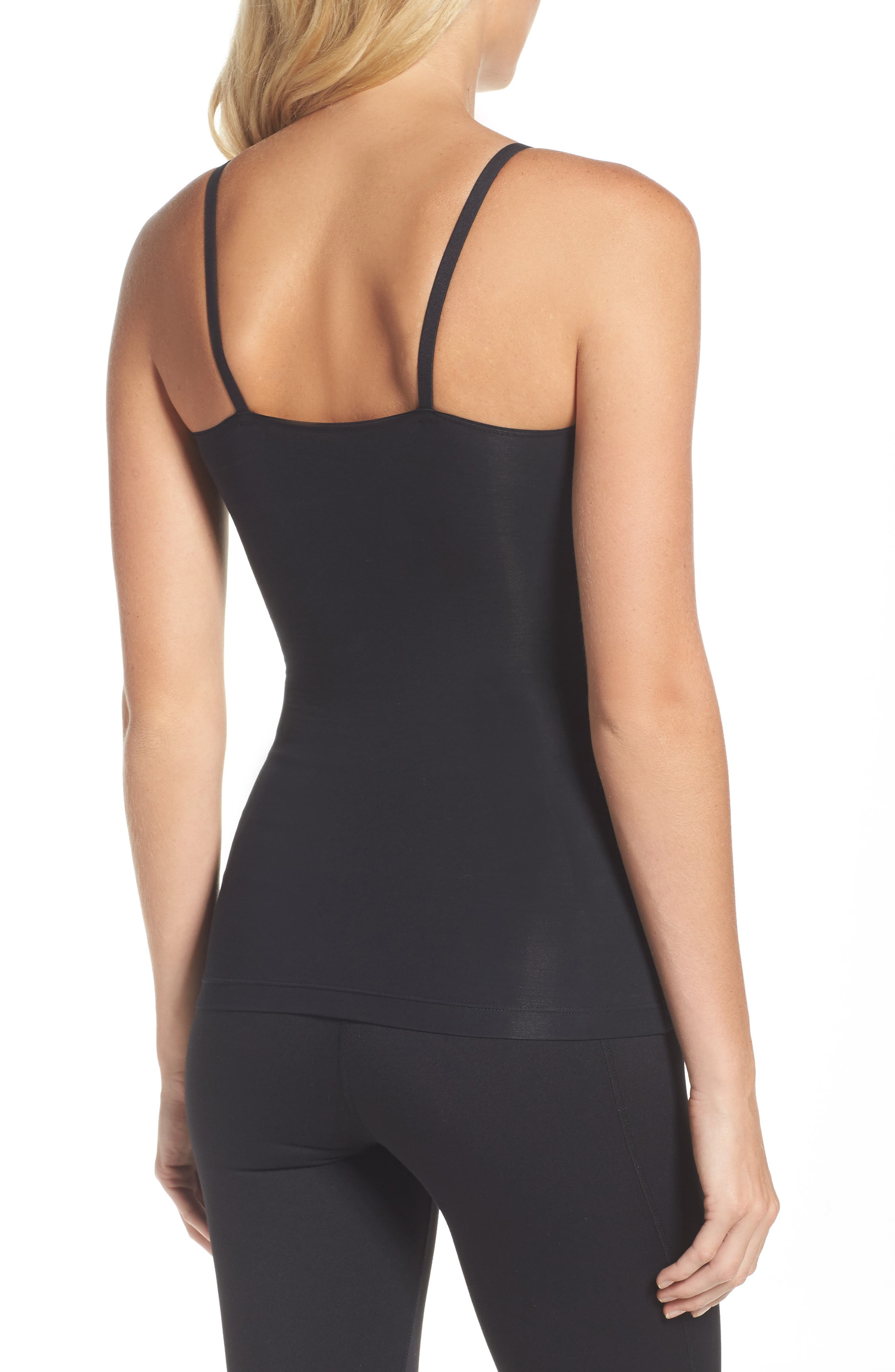 SPANX<SUP>®</SUP>, In & Out Camisole, Alternate thumbnail 2, color, VERY BLACK