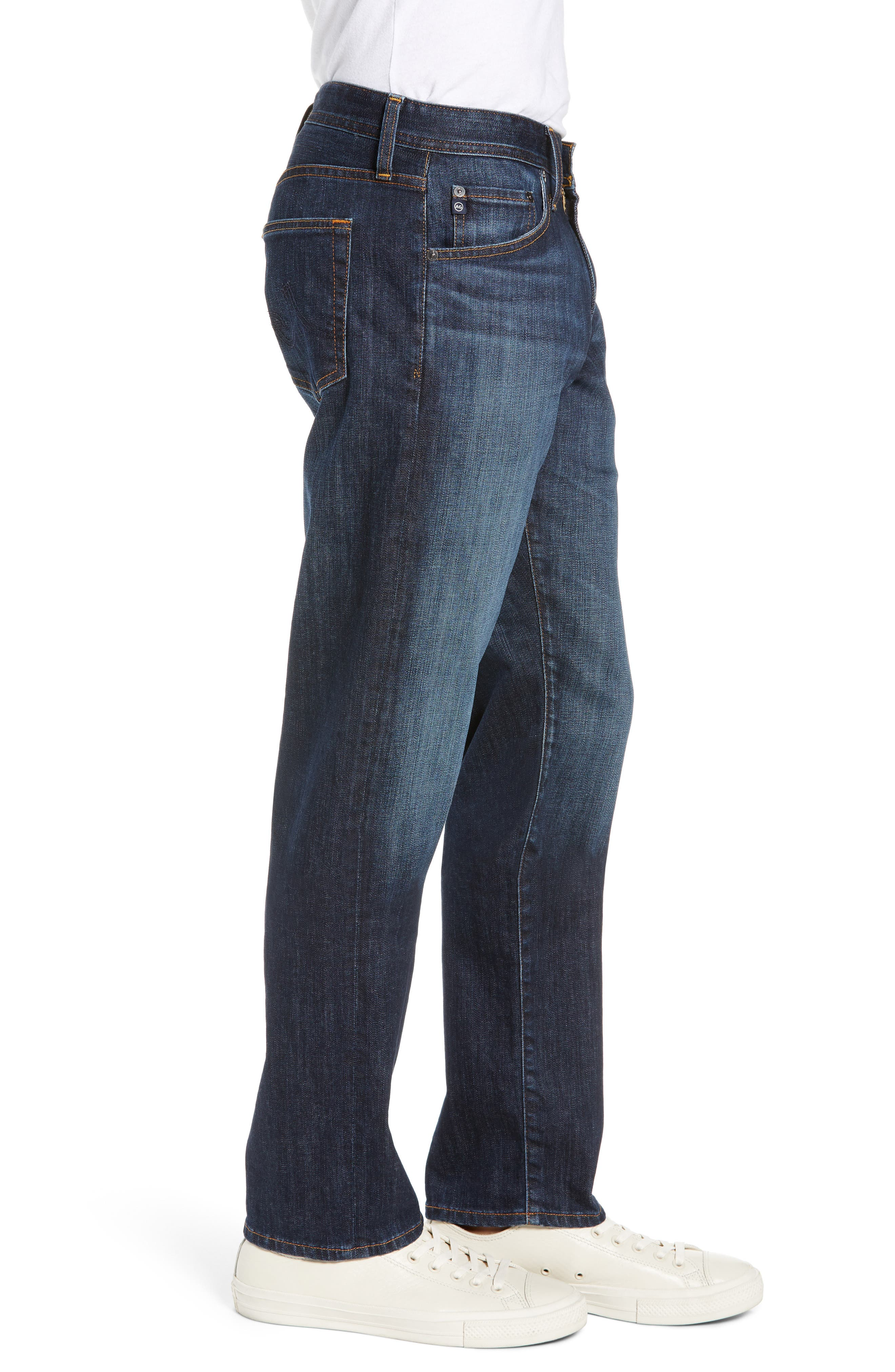 AG, Graduate Slim Straight Leg Jeans, Alternate thumbnail 4, color, WETHERBURN
