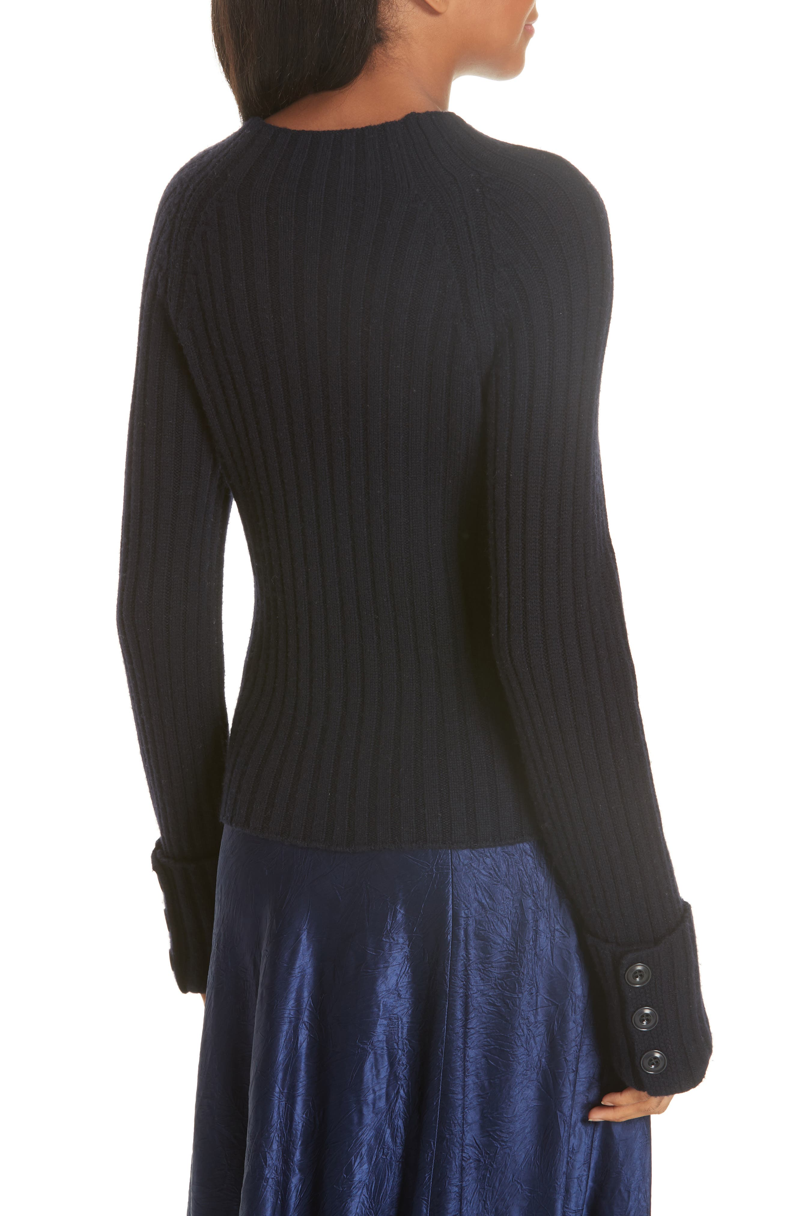 VINCE, Button Cuff Wool & Cashmere Sweater, Alternate thumbnail 2, color, 403