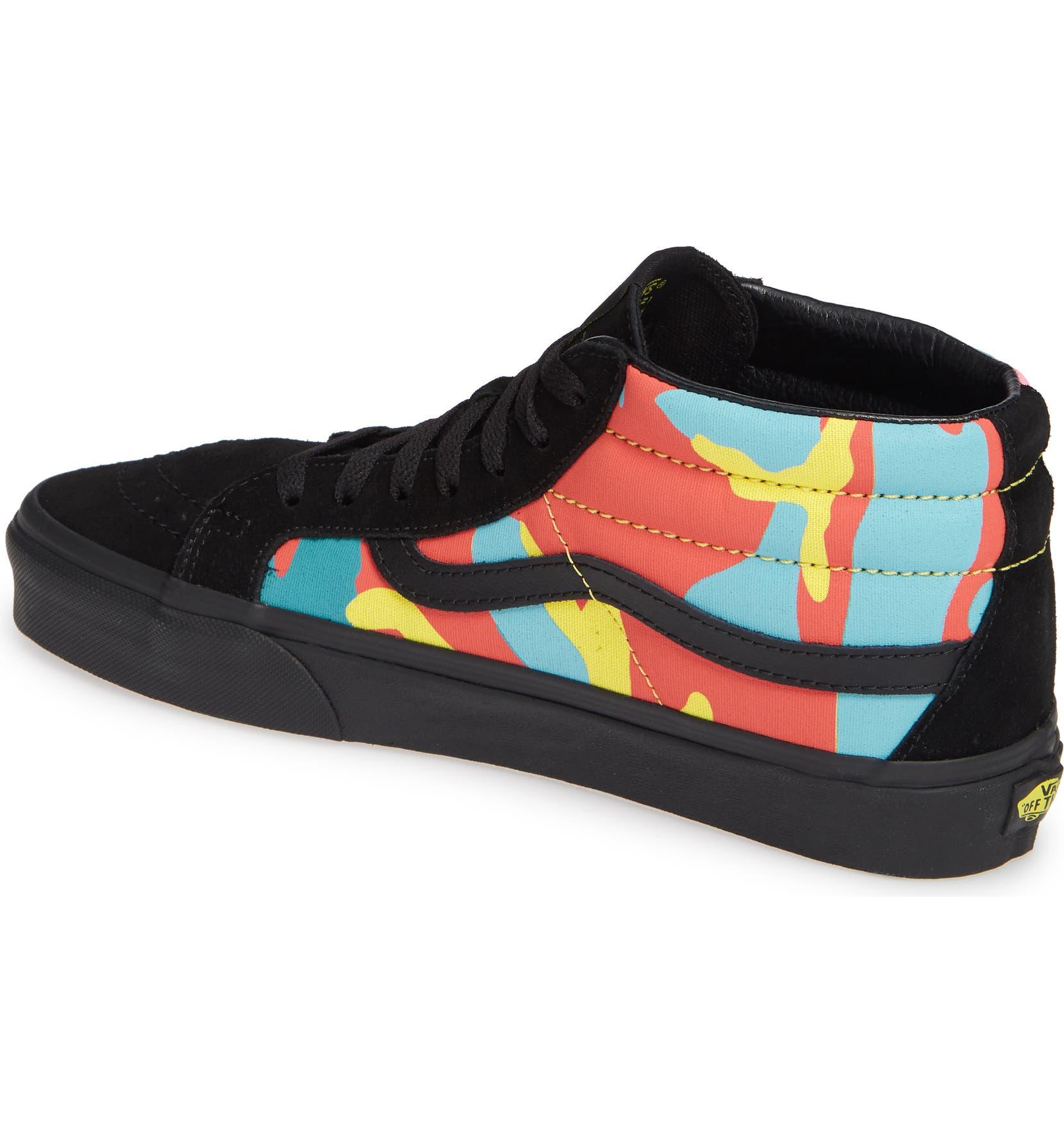 f5c634a3c3c Vans Sk8 Mid Reissue Neon Camo Sneaker (Men)