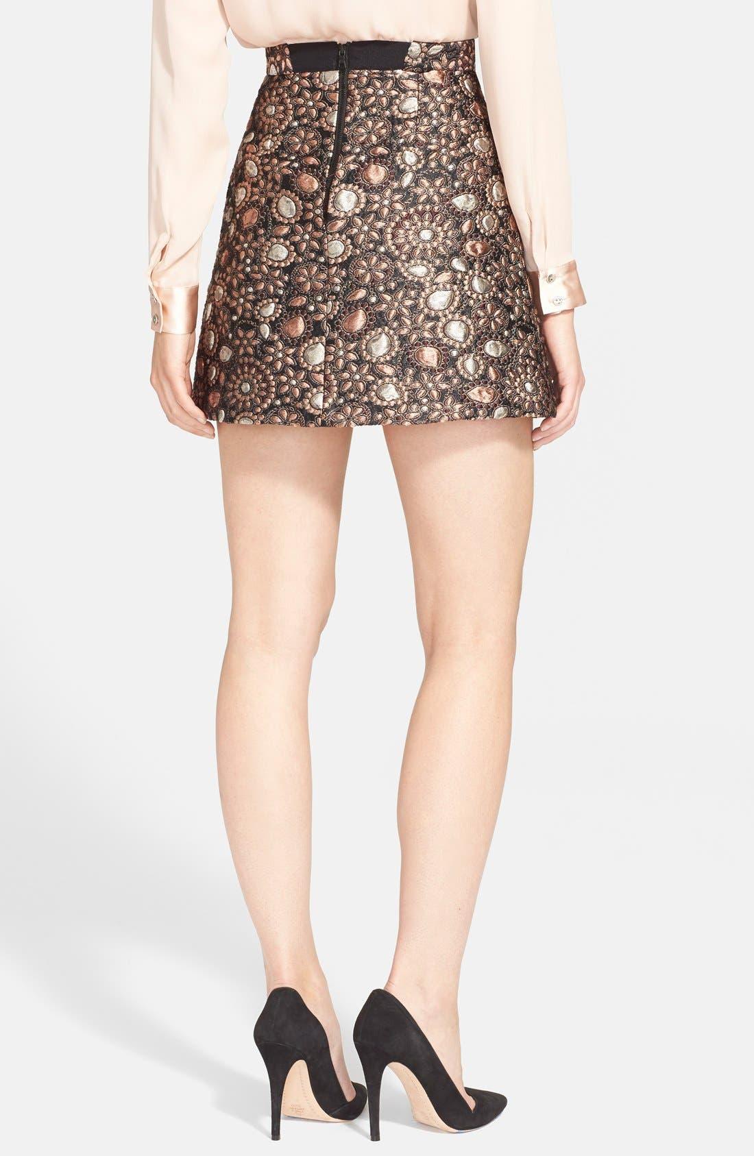 ALICE + OLIVIA, 'Jessa' A-Line Skirt, Alternate thumbnail 2, color, 716