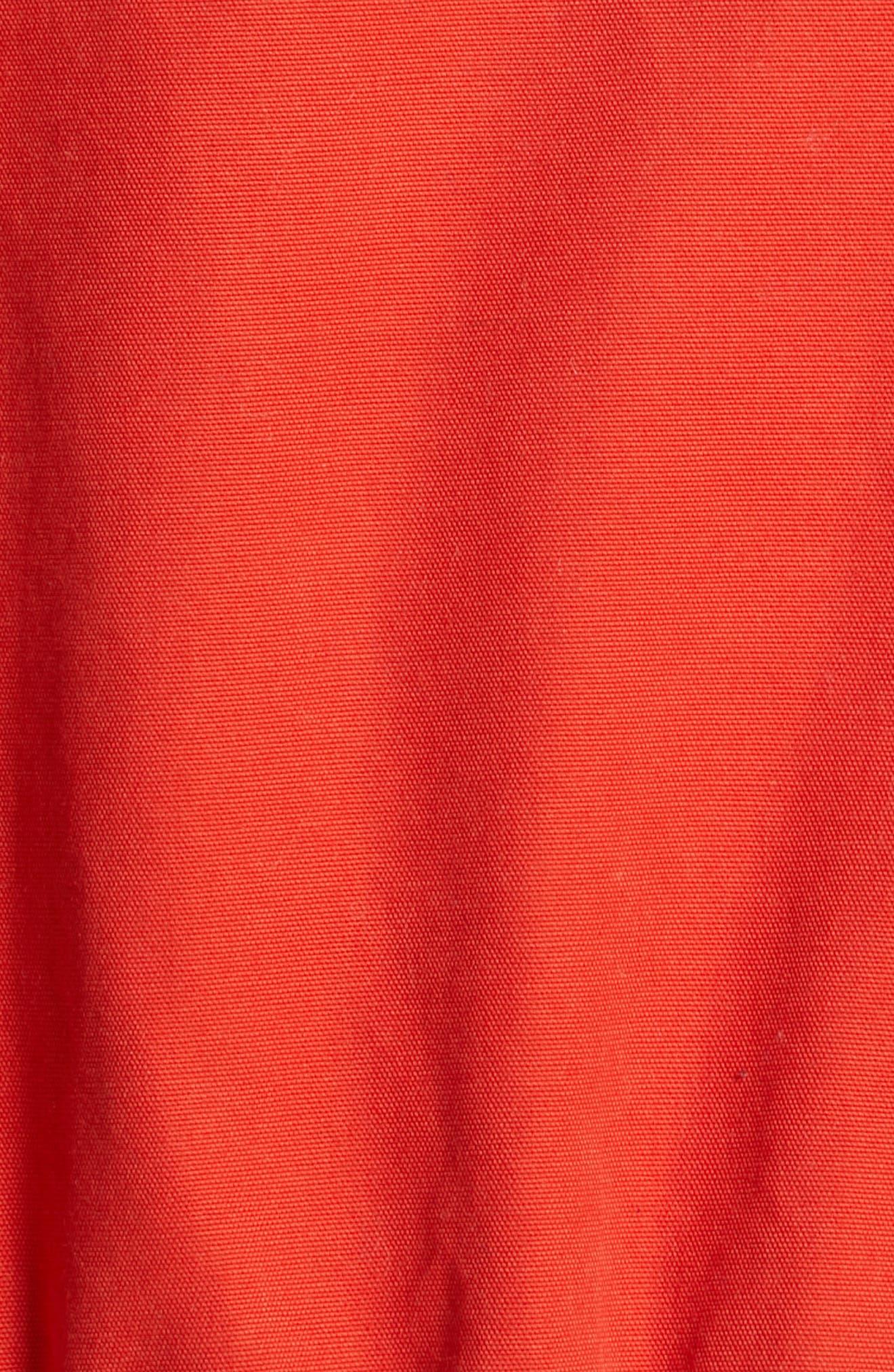 POLO RALPH LAUREN, Colorblock Utility Jacket, Alternate thumbnail 7, color, ORANGE/CREAM/ SAPPHIRE