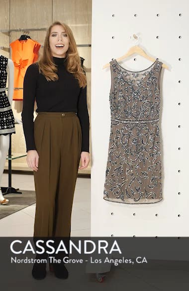 Sequin & Bead Embellished Sheath, sales video thumbnail