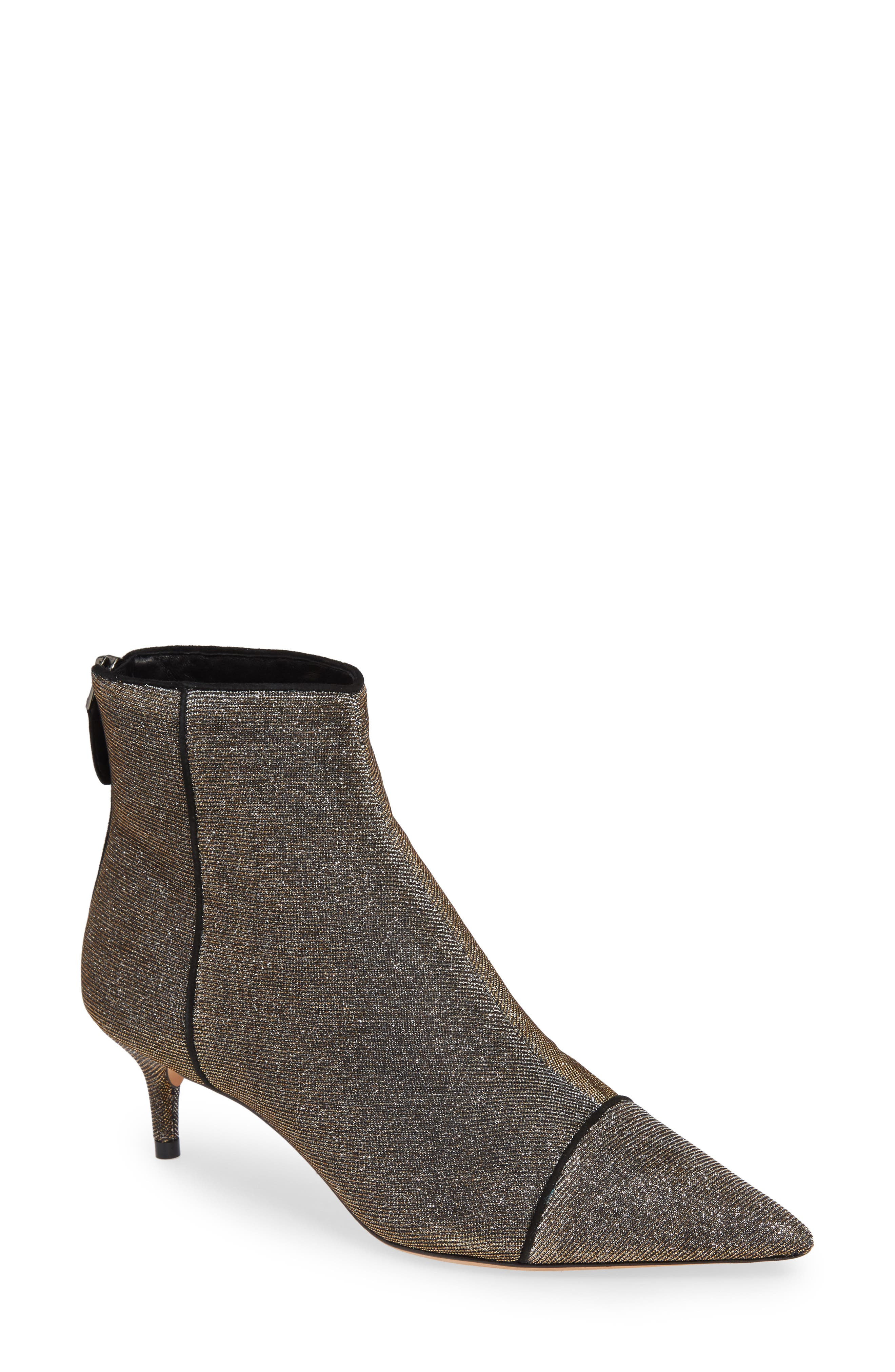 ALEXANDRE BIRMAN Kittie Pointy Toe Bootie, Main, color, BLACK