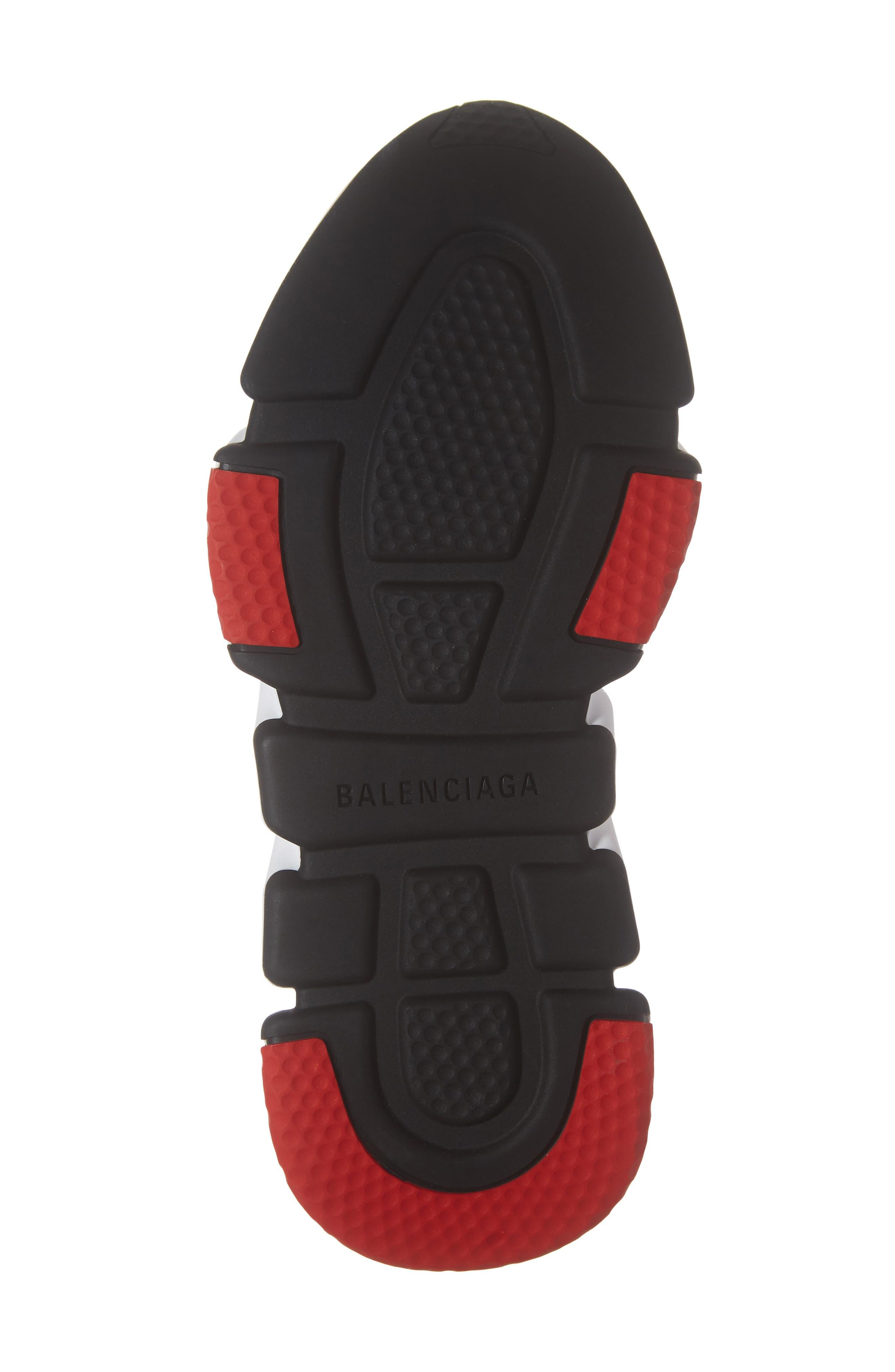 BALENCIAGA, Speed Knit Sneaker, Alternate thumbnail 6, color, BLACK/ RED