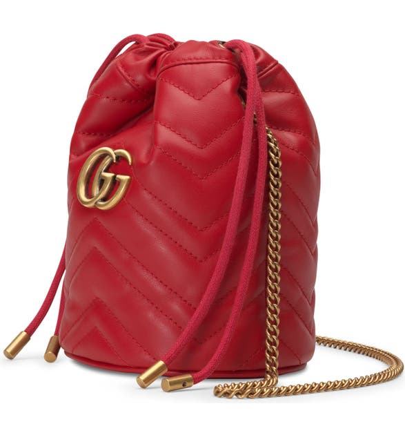 bb59640d780 Gucci Mini GG Marmont 2.0 Quilted Leather Bucket Bag