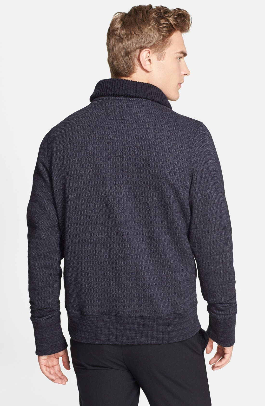 BILLY REID, 'Shiloh' Shawl Collar Sweater, Alternate thumbnail 3, color, 410