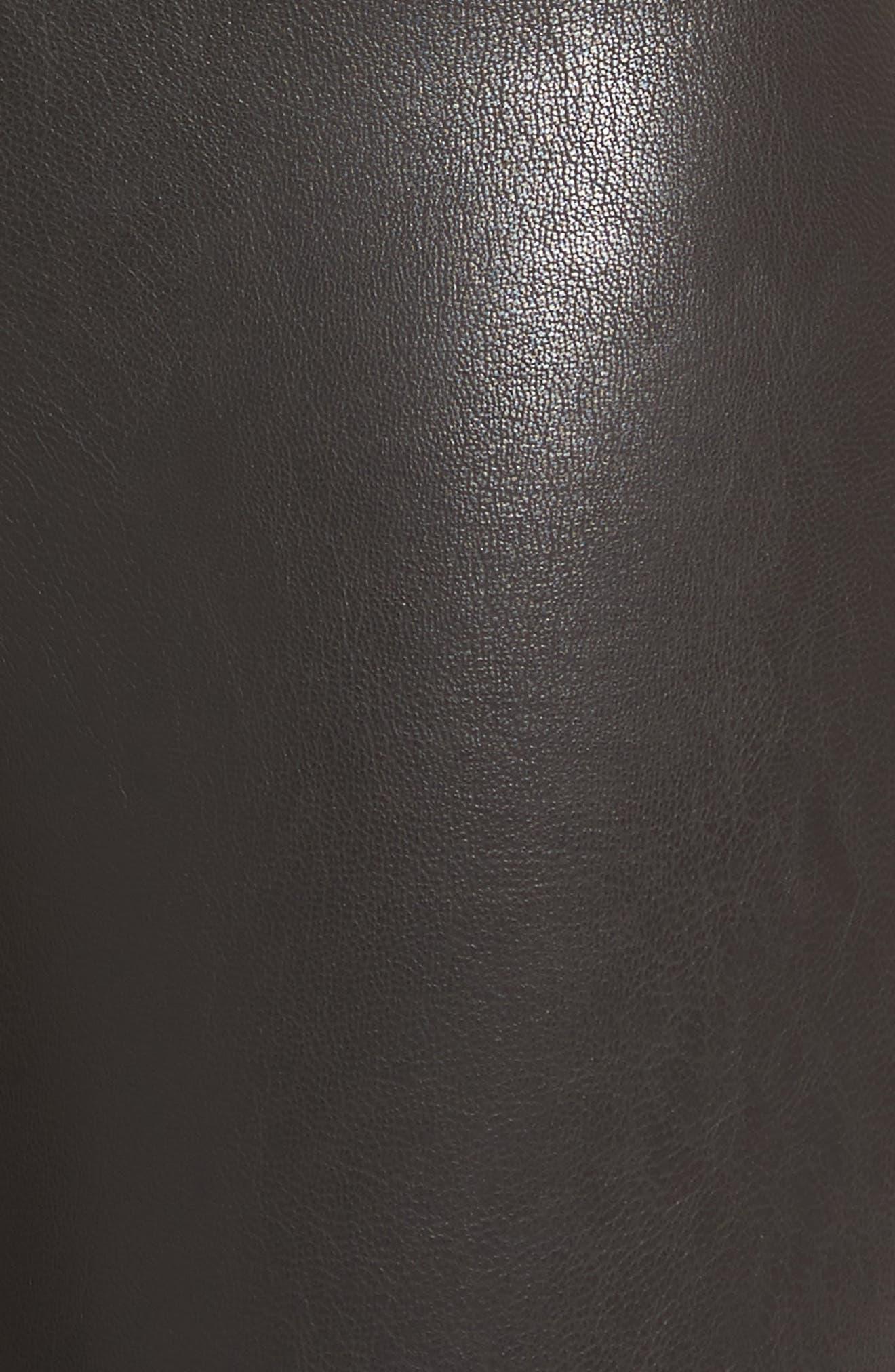 COMMANDO, Perfect Control Faux Leather Leggings, Alternate thumbnail 6, color, BLACK
