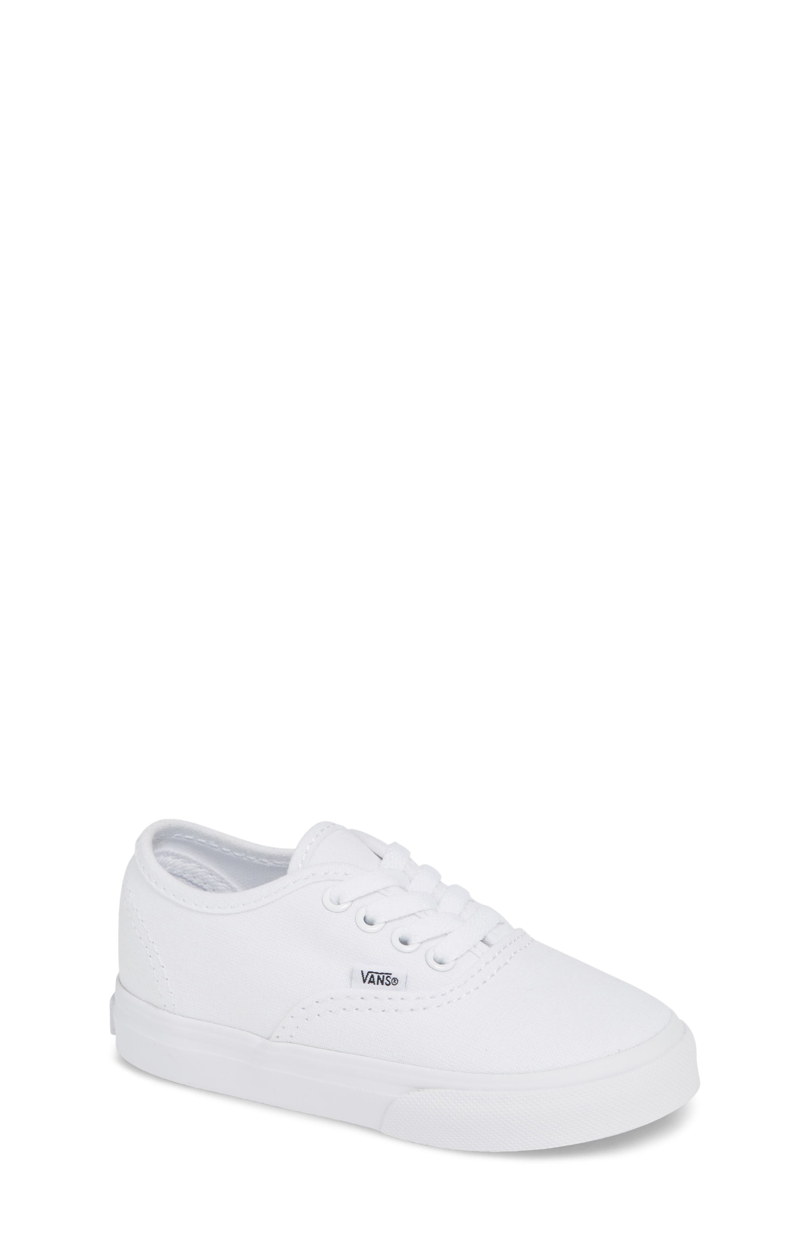 VANS, 'Authentic' Sneaker, Main thumbnail 1, color, TRUE WHITE/ WHITE