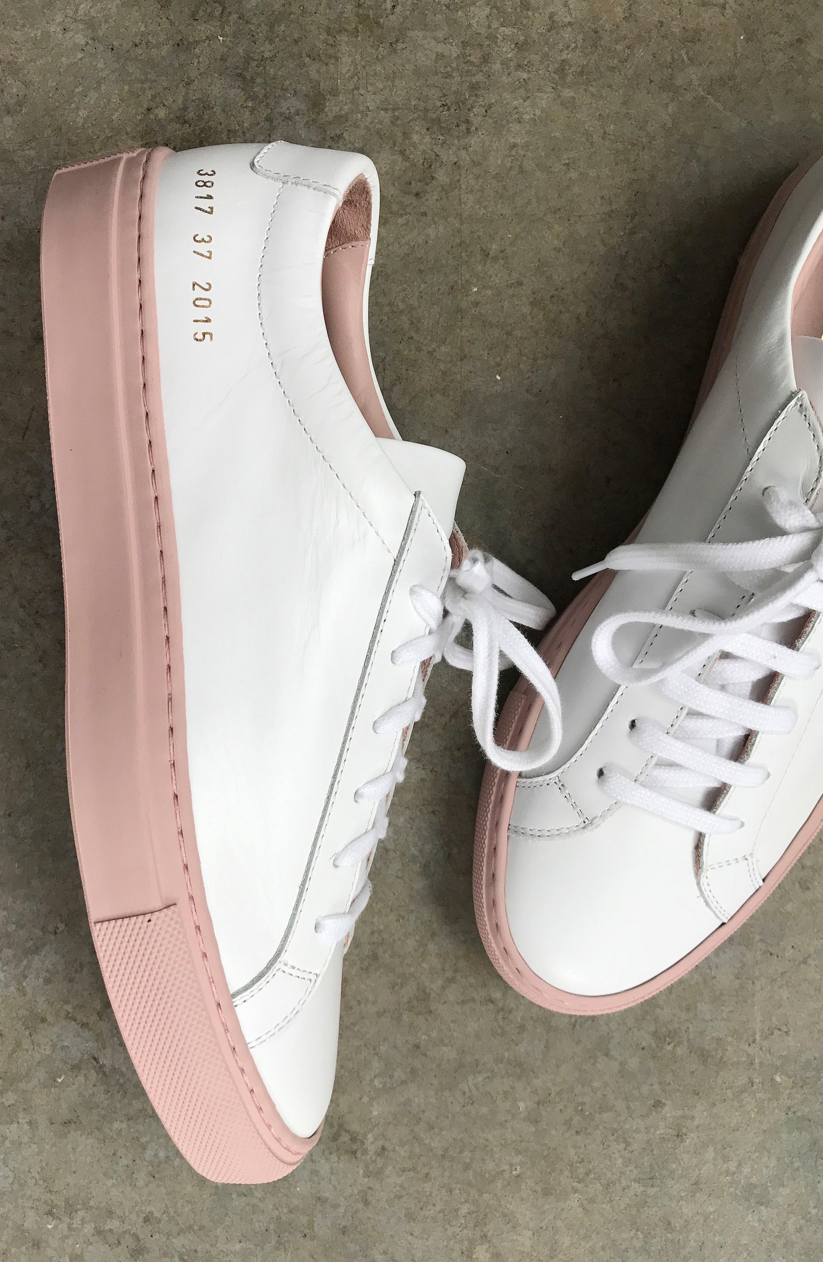COMMON PROJECTS, Original Achilles Sneaker, Alternate thumbnail 7, color, WHITE LEATHER