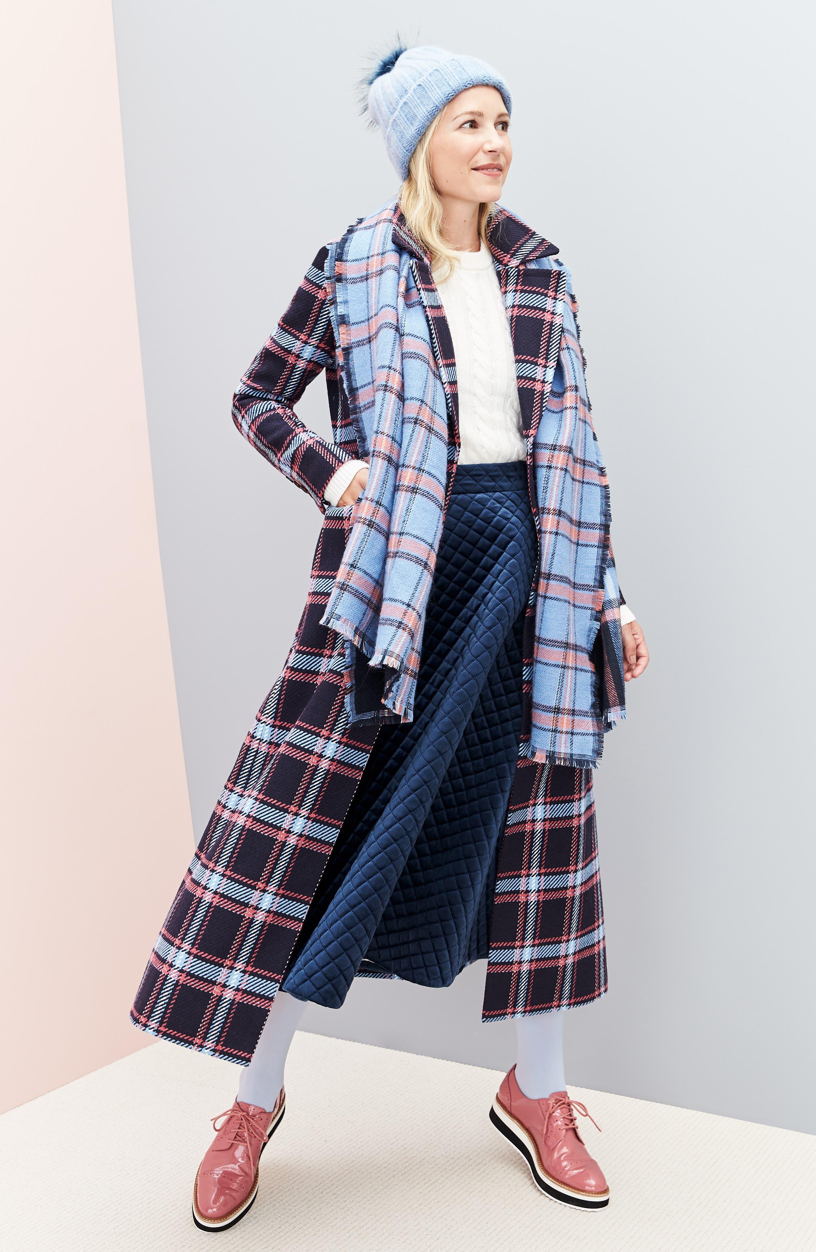 HALOGEN<SUP>®</SUP>, x Atlantic-Pacific Long Plaid Coat, Alternate thumbnail 10, color, 410