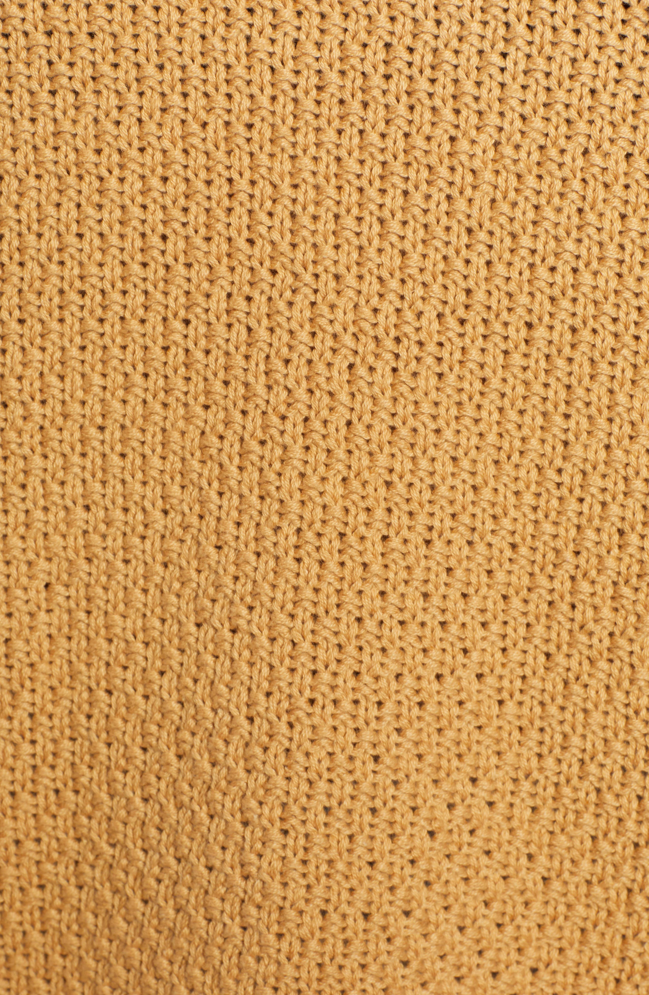 CASLON<SUP>®</SUP>, Mixed Stitch Sweater, Alternate thumbnail 5, color, TAN CINNAMON