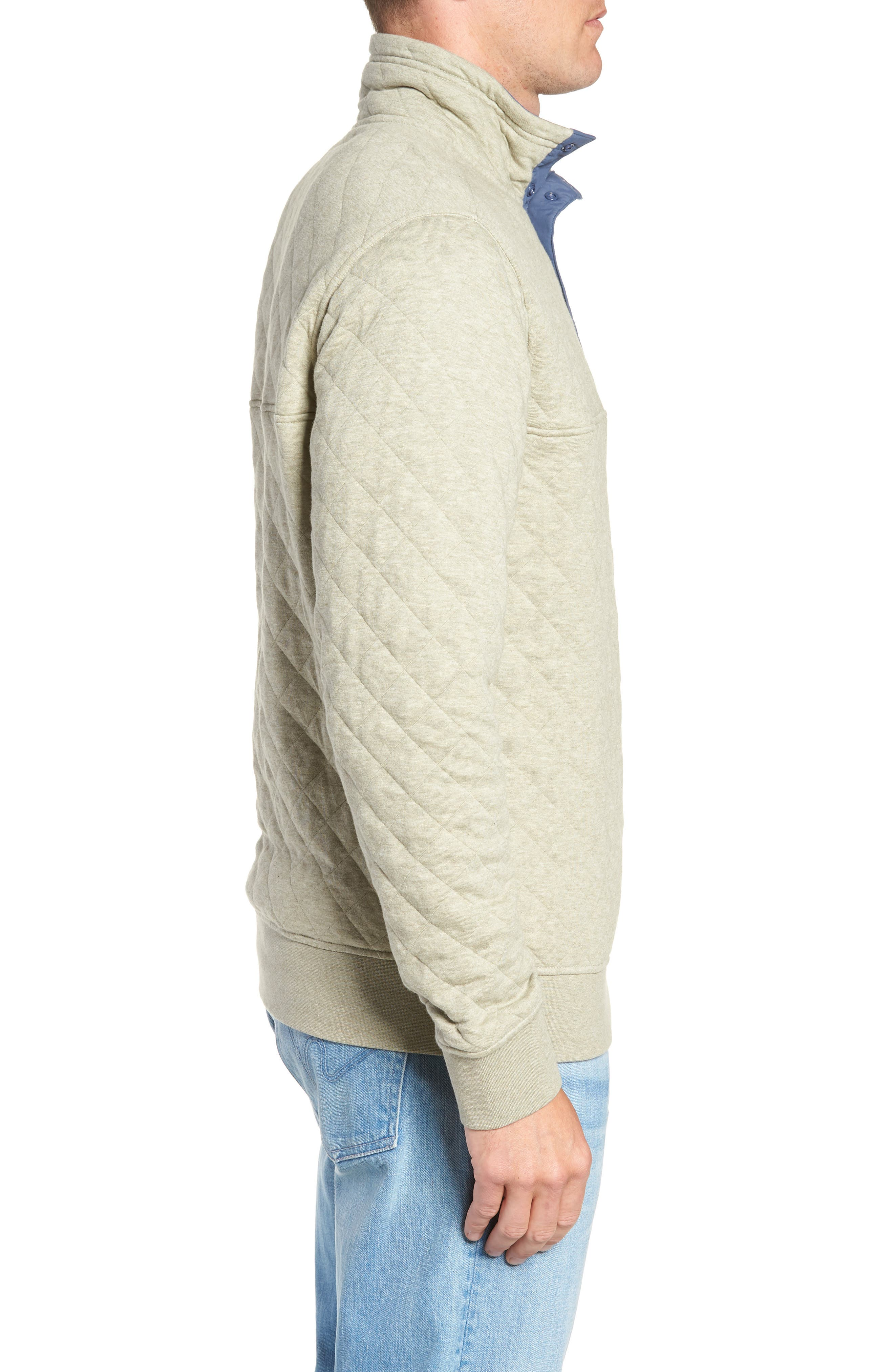 PATAGONIA, Snap-T<sup>®</sup> Quilted Fleece Pullover, Alternate thumbnail 4, color, SHALE