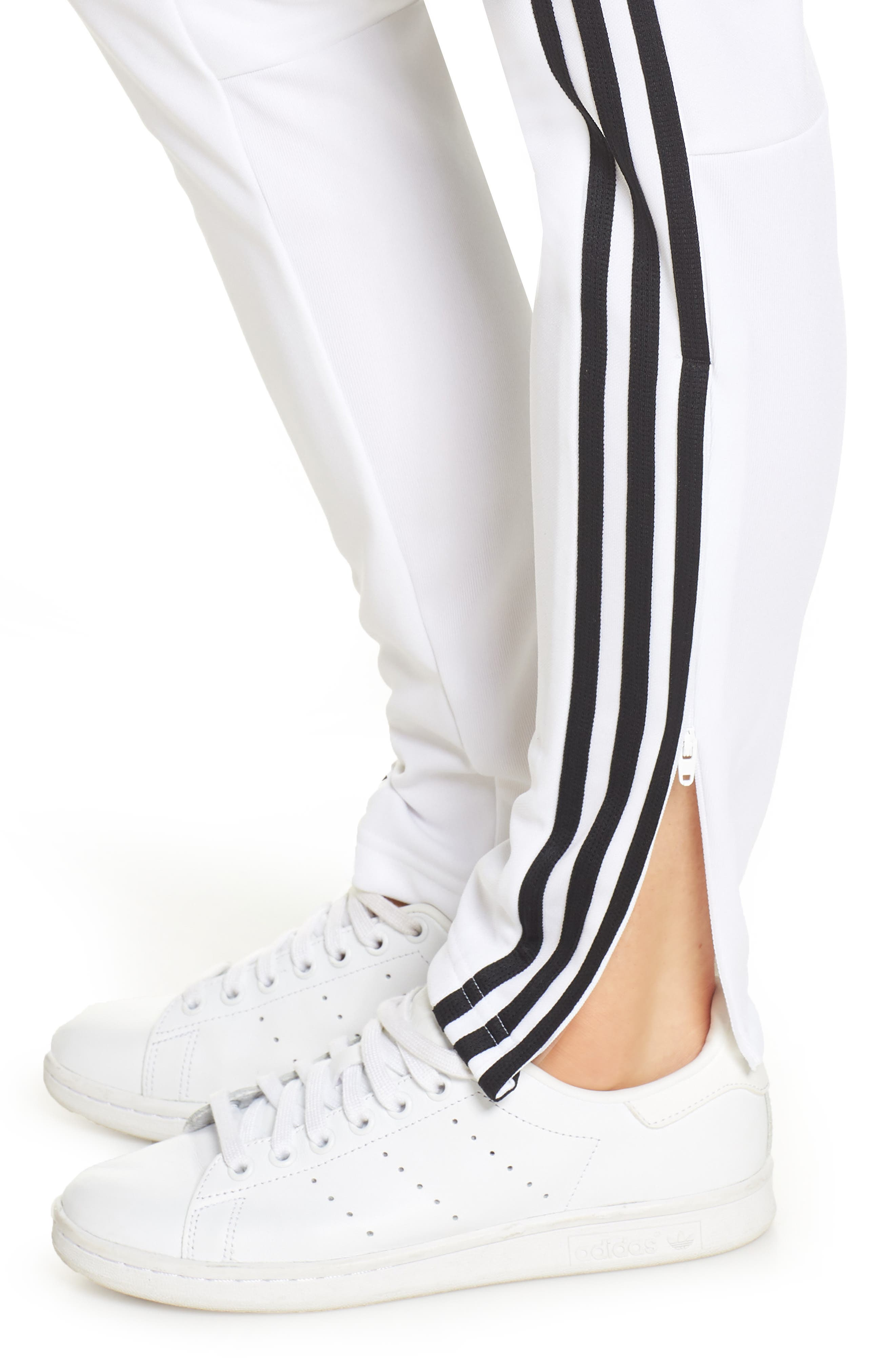 ADIDAS, Tiro 19 Training Pants, Alternate thumbnail 5, color, WHITE/ BLACK