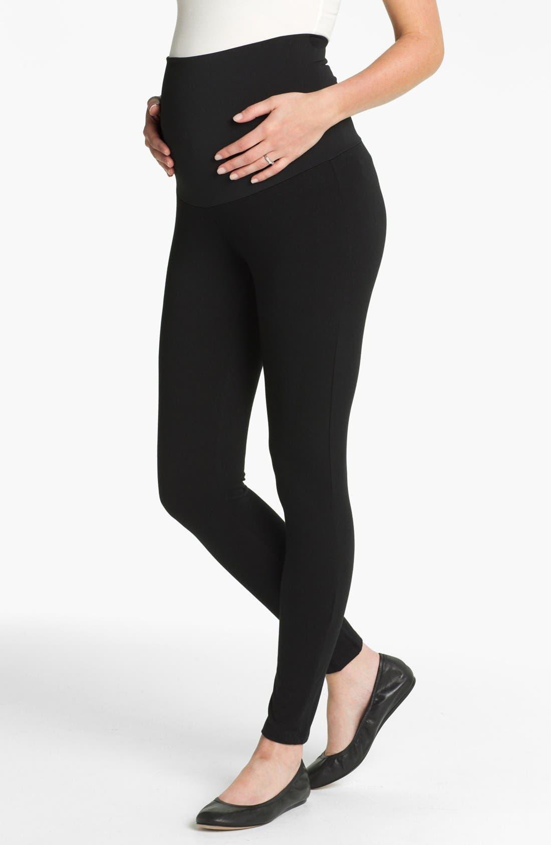 MATERNAL AMERICA Belly Support Maternity Leggings, Main, color, 001