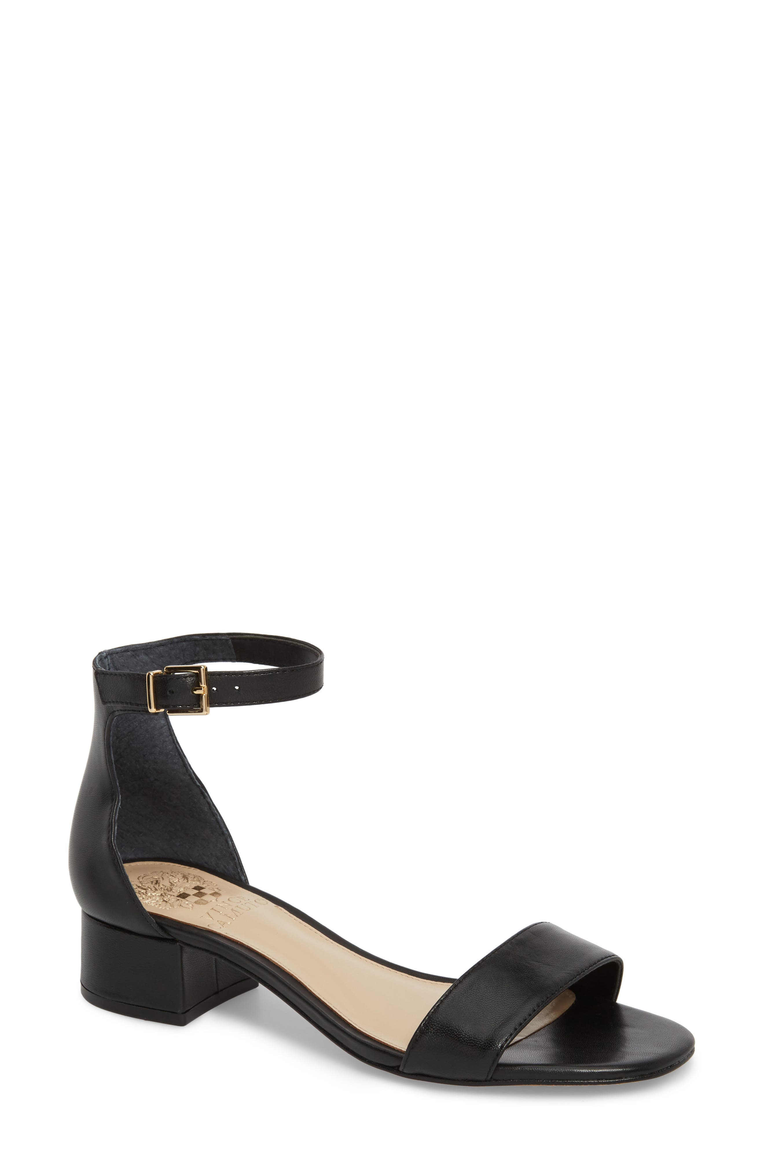 VINCE CAMUTO Sasseta Sandal, Main, color, BLACK LEATHER