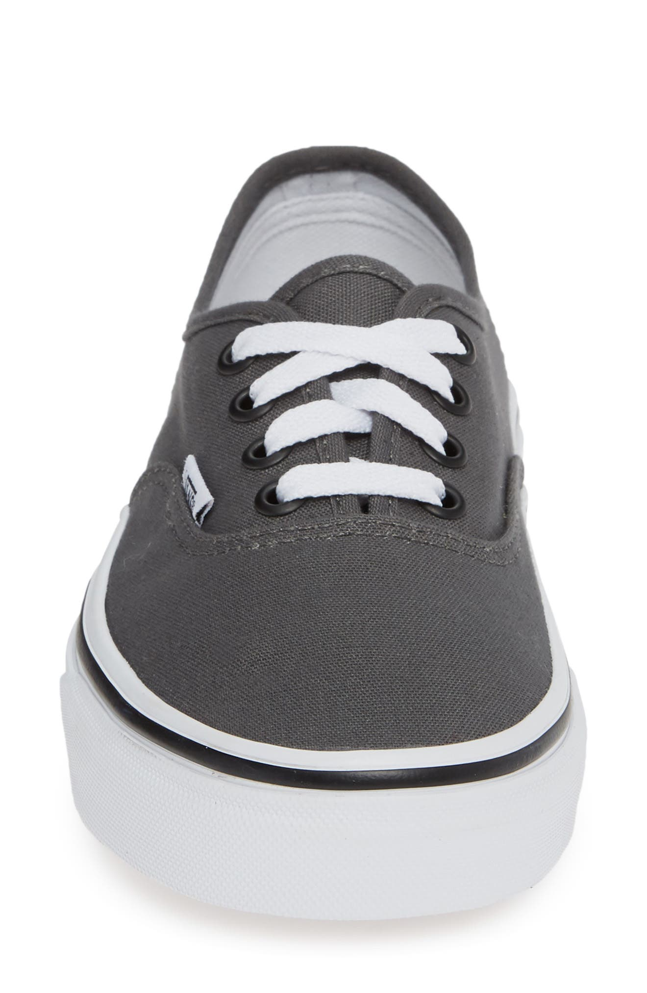 VANS, 'Authentic' Sneaker, Alternate thumbnail 5, color, PEWTER/BLACK