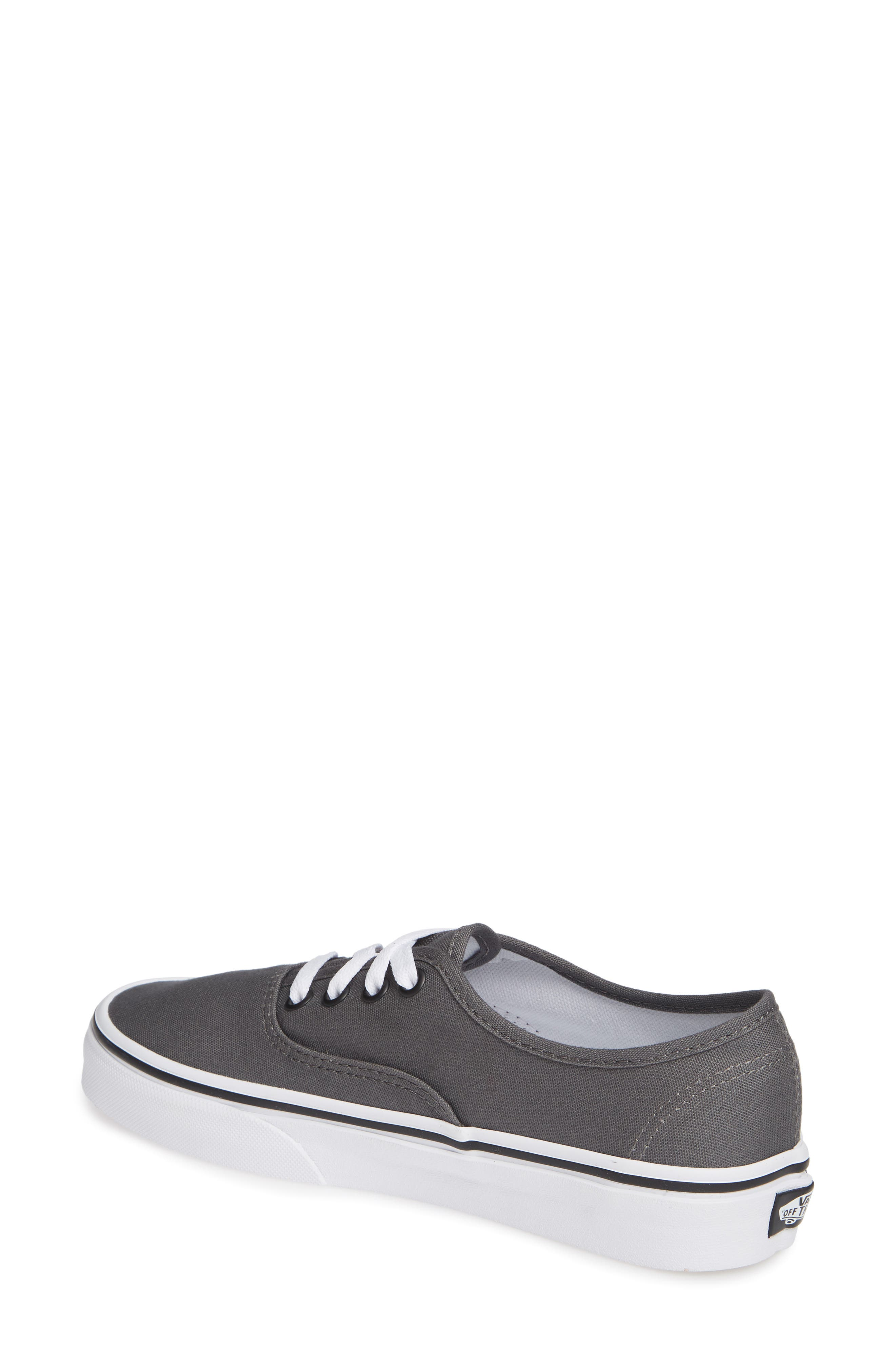VANS, 'Authentic' Sneaker, Alternate thumbnail 3, color, PEWTER/BLACK