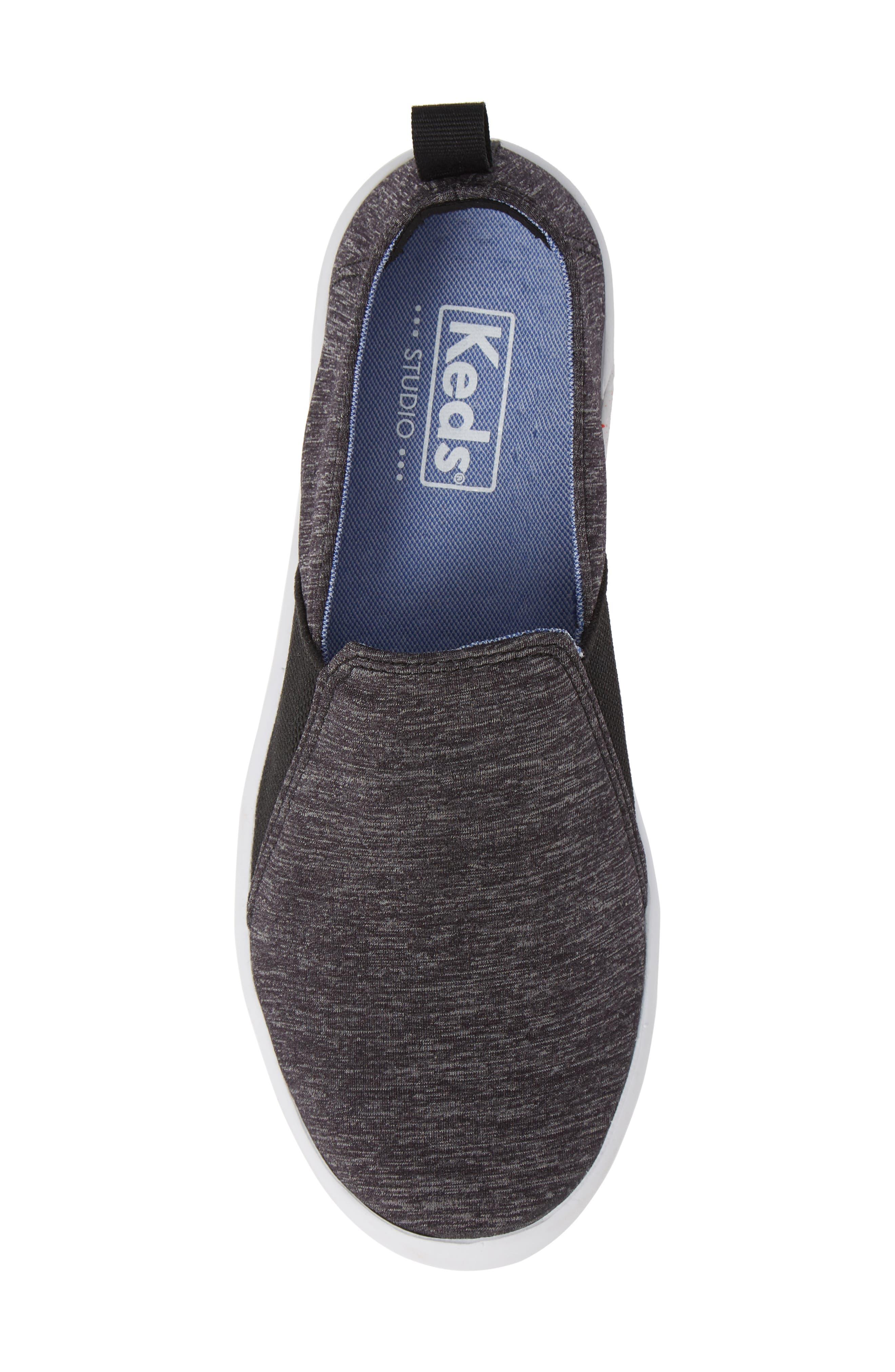 KEDS<SUP>®</SUP>, Studio Liv Active Knit Sneaker, Alternate thumbnail 5, color, BLACK