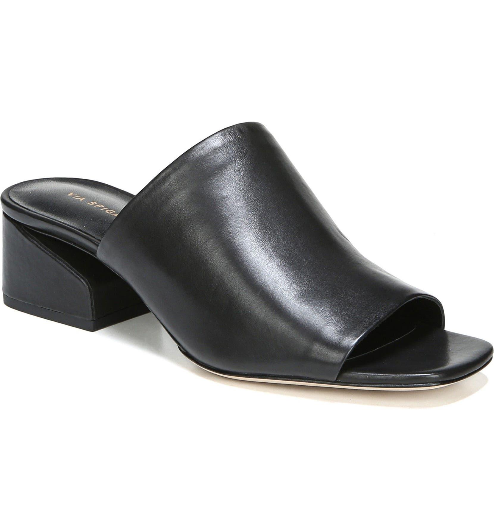 00c43b16e317 Via Spiga Porter Peep Toe Mule (Women)
