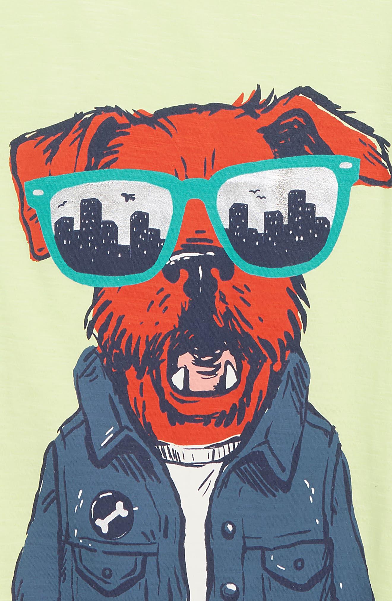 HATLEY, Hip City Pup Graphic T-Shirt, Alternate thumbnail 2, color, GREEN