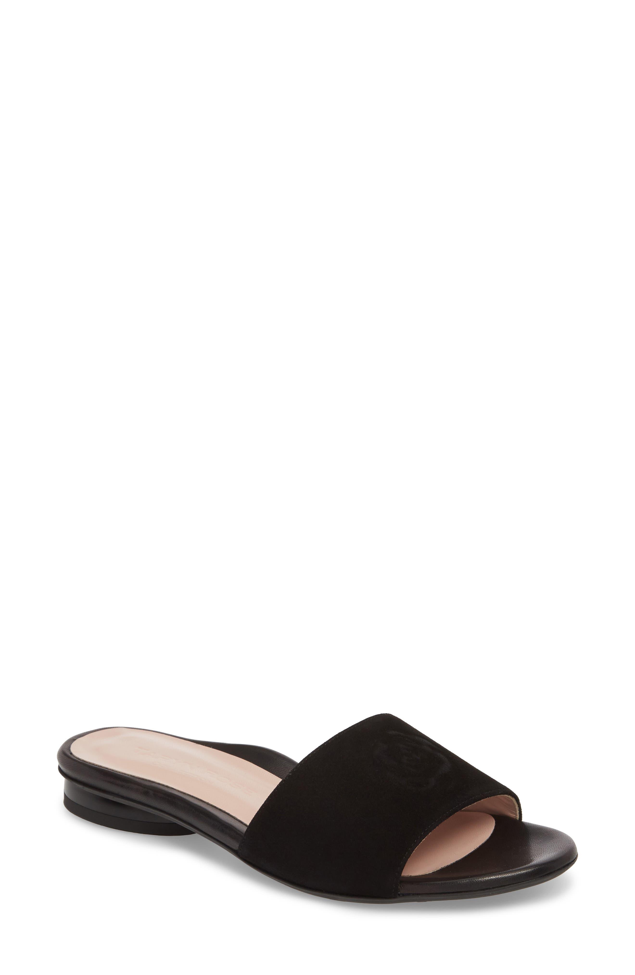 Taryn Rose Collection Dahna Slide Sandal- Black