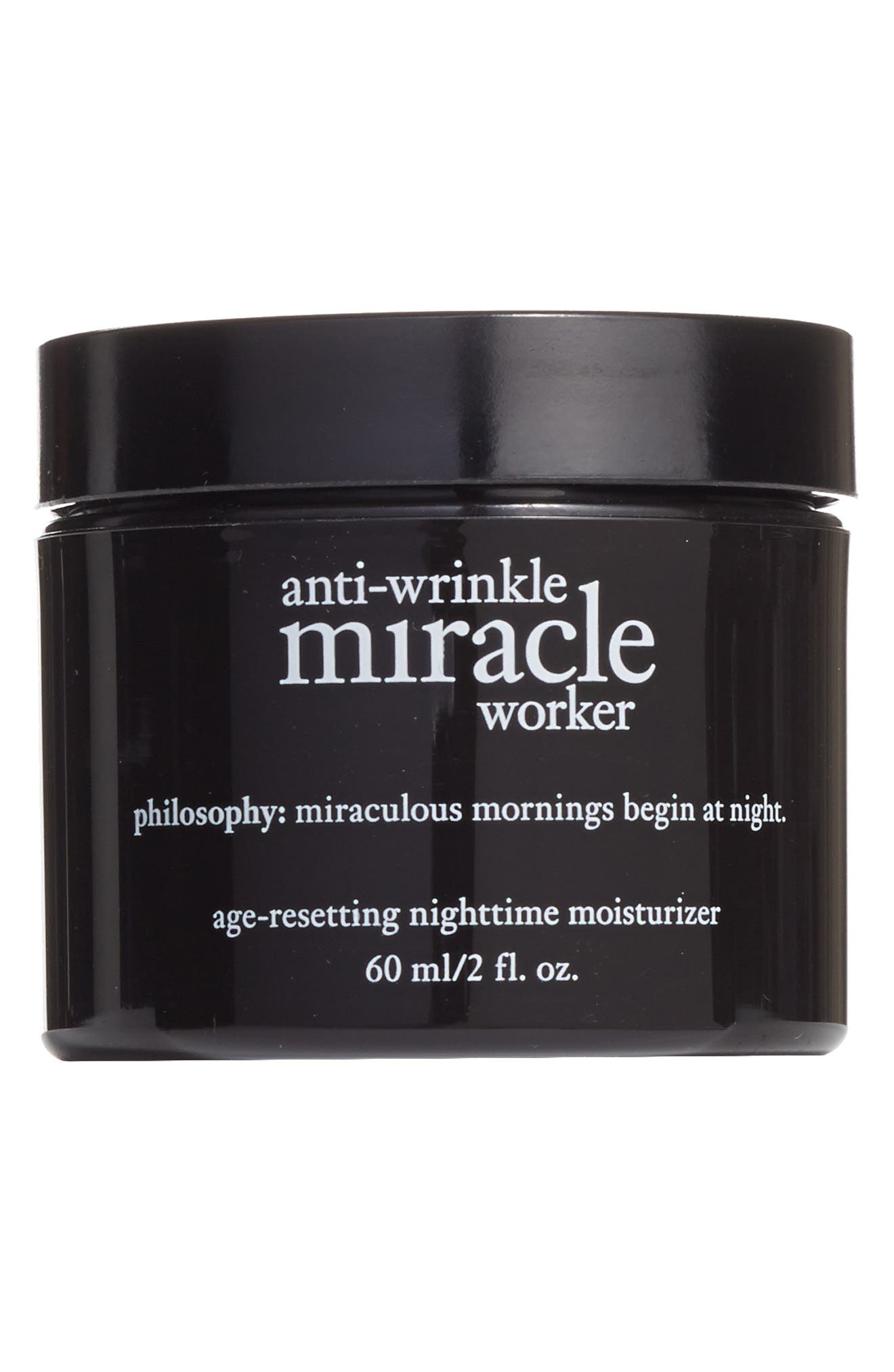 PHILOSOPHY, 'anti-wrinkle miracle worker' age-resetting nighttime moisturizer, Main thumbnail 1, color, 000