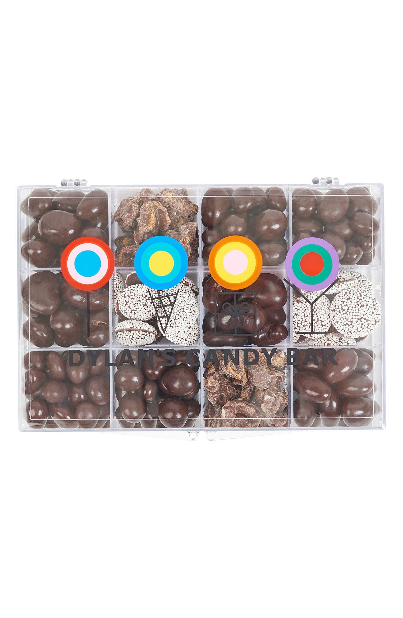 DYLAN'S CANDY BAR, Signature Dark Chocolate Tackle Box, Main thumbnail 1, color, BROWN