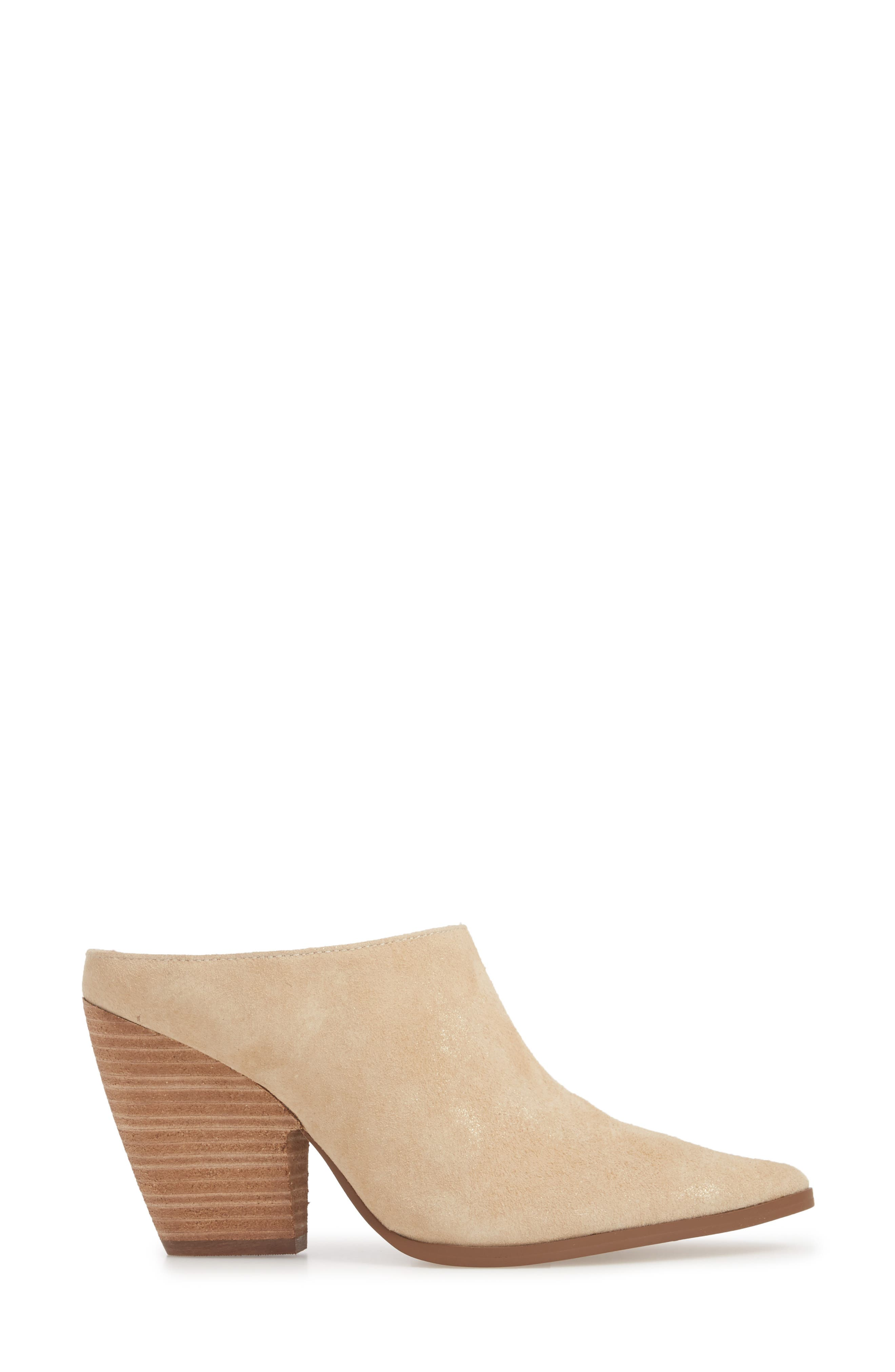CHARLES BY CHARLES DAVID, Nico Mule, Alternate thumbnail 3, color, NUDE LIGHT GOLD SUEDE