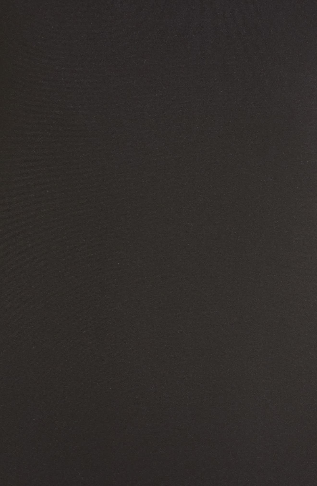 HALOGEN<SUP>®</SUP>, Seamless Thong Bodysuit, Alternate thumbnail 5, color, BLACK