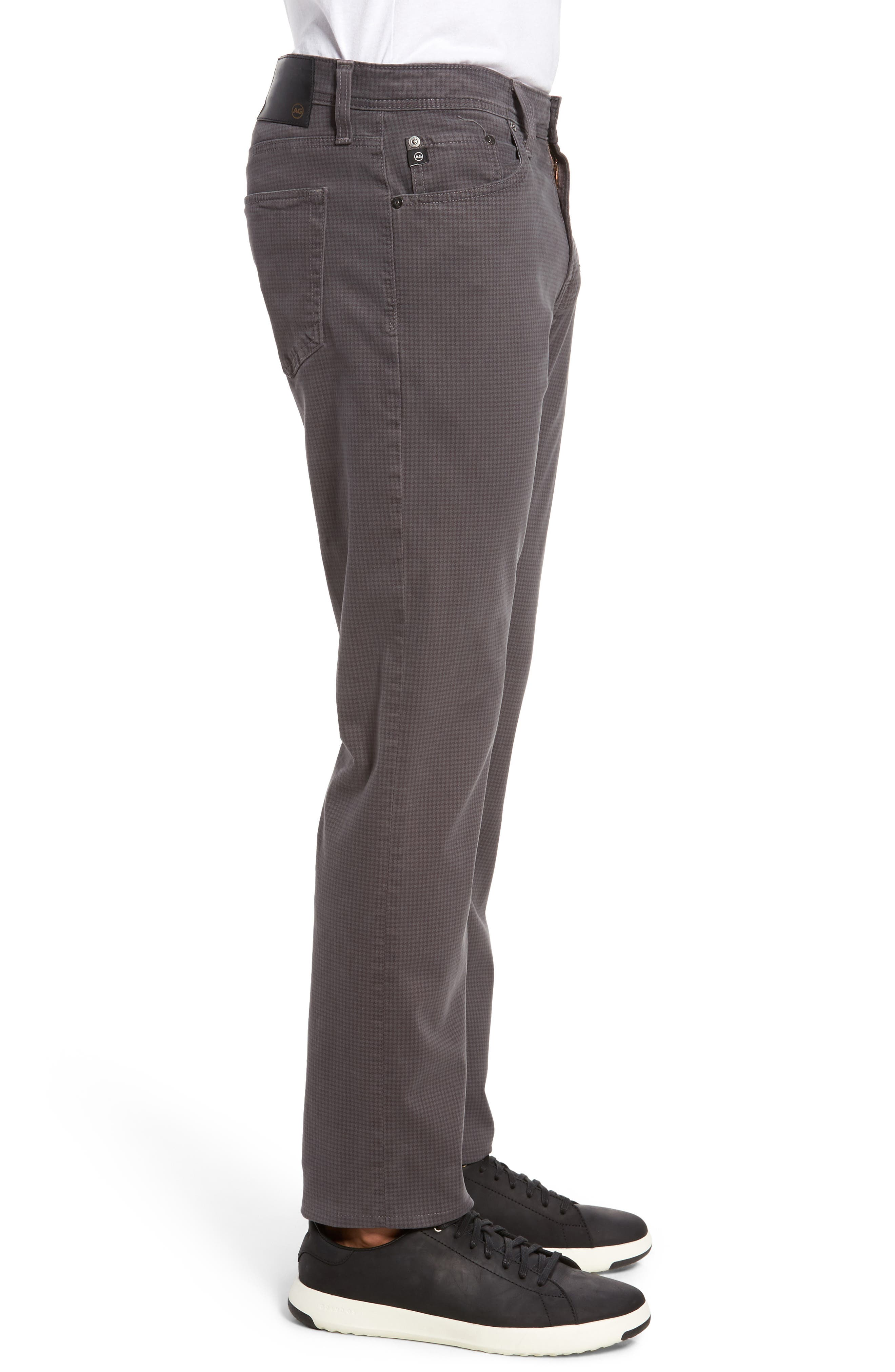 AG, Everett SUD Print Slim Straight Leg Pants, Alternate thumbnail 4, color, NO_COLOR