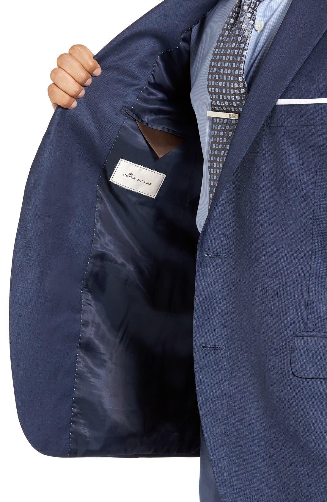 PETER MILLAR, Flynn Classic Fit Wool Suit, Alternate thumbnail 7, color, BLUE