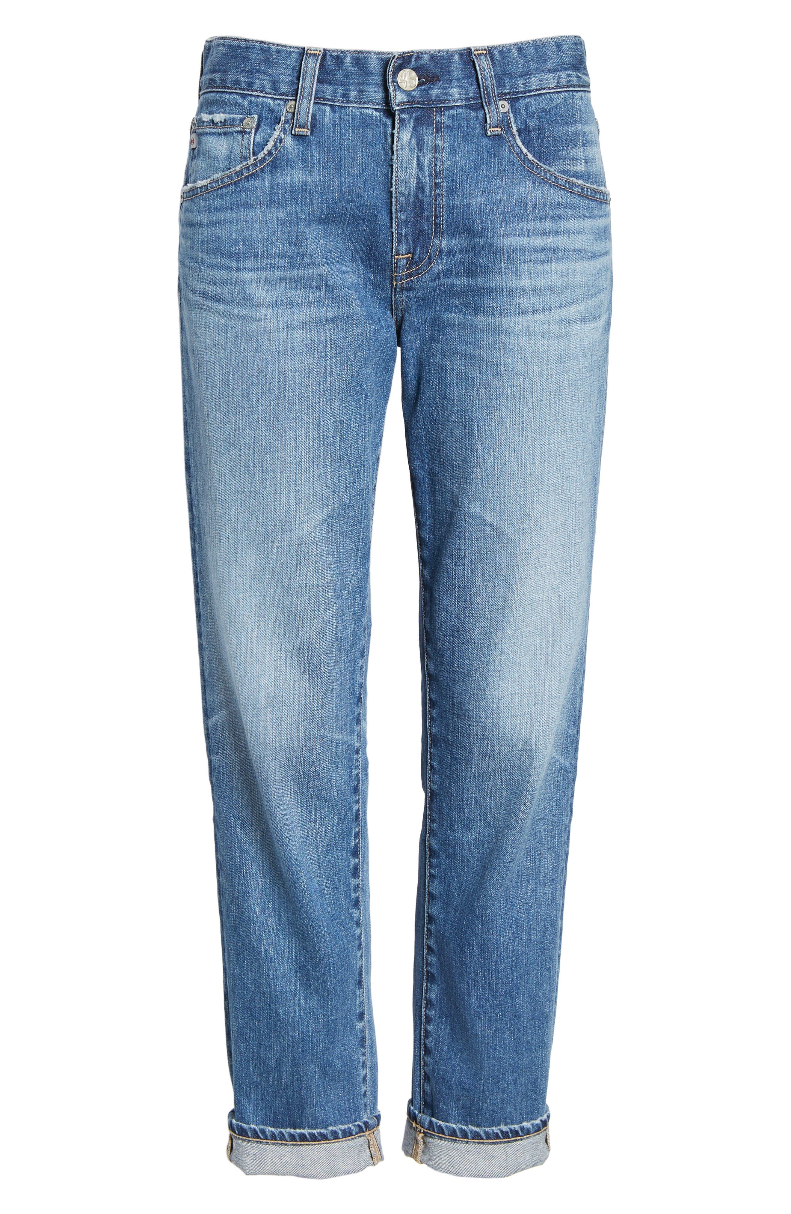 AG, Ex-Boyfriend Crop Slim Jeans, Alternate thumbnail 7, color, 417