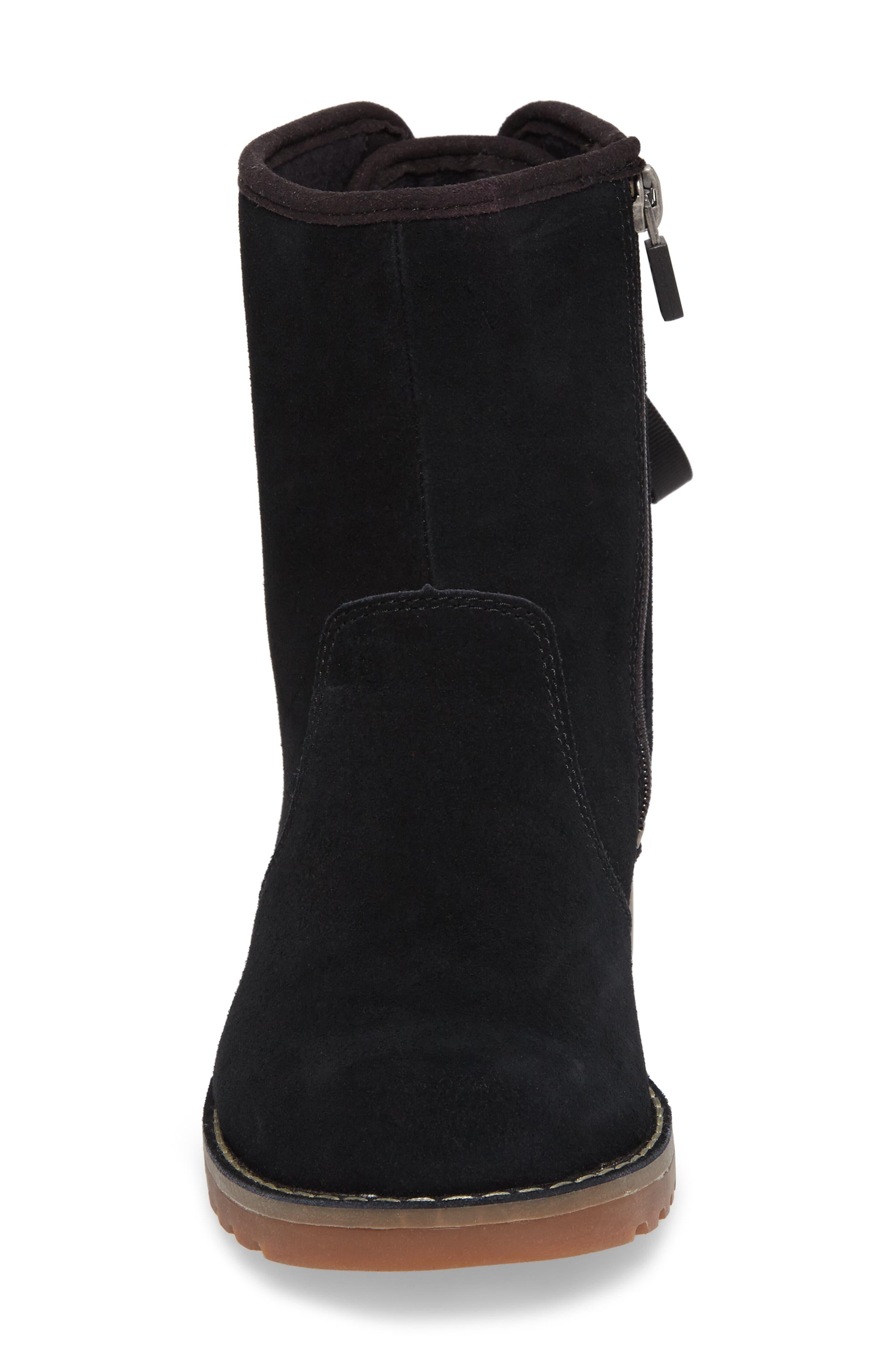UGG<SUP>®</SUP>, 'Corene' Suede Boot, Alternate thumbnail 4, color, BLACK/ BLACK