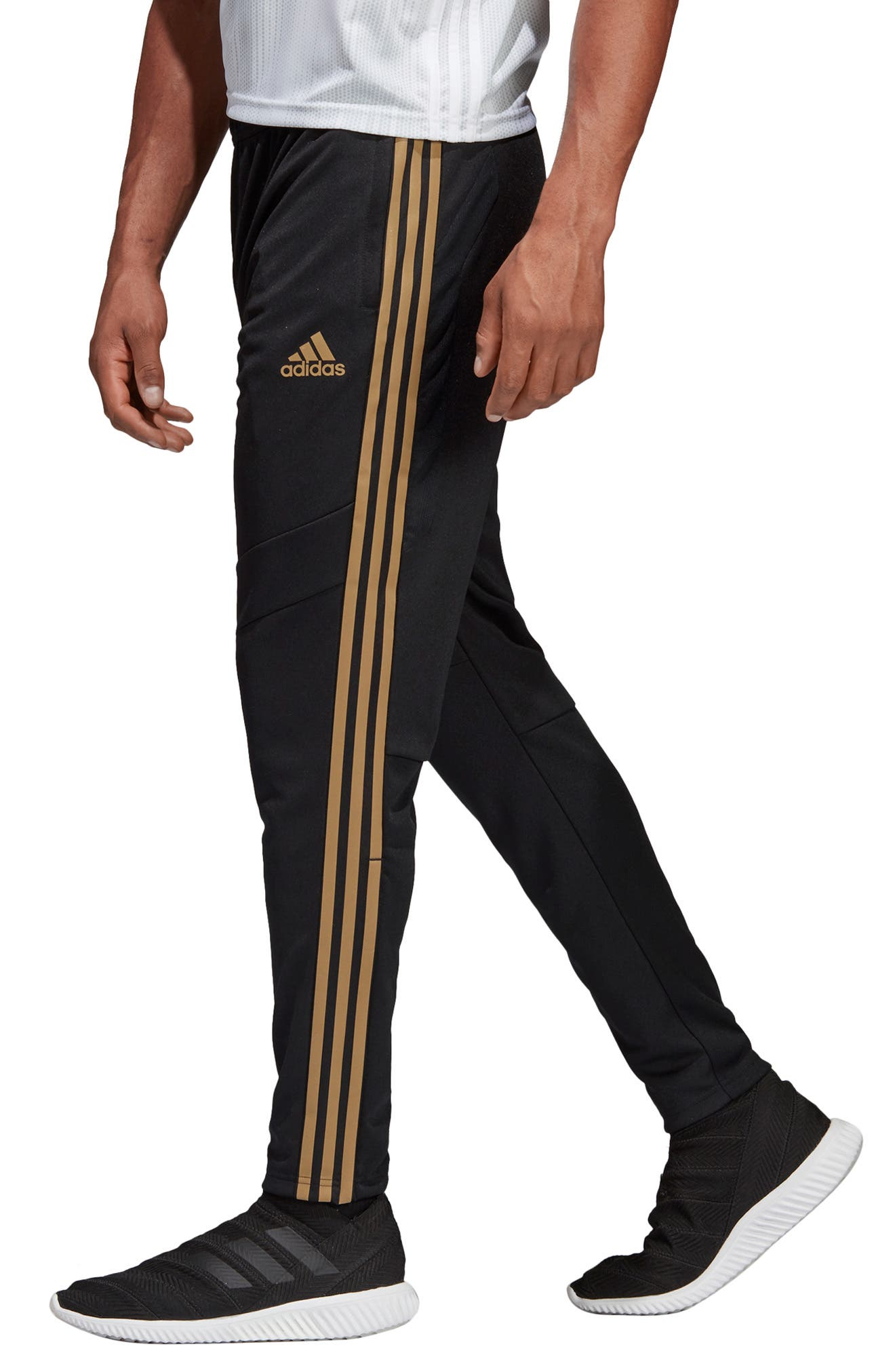 ADIDAS, Tiro 19 Training Pants, Alternate thumbnail 4, color, BLACK/ GOLD