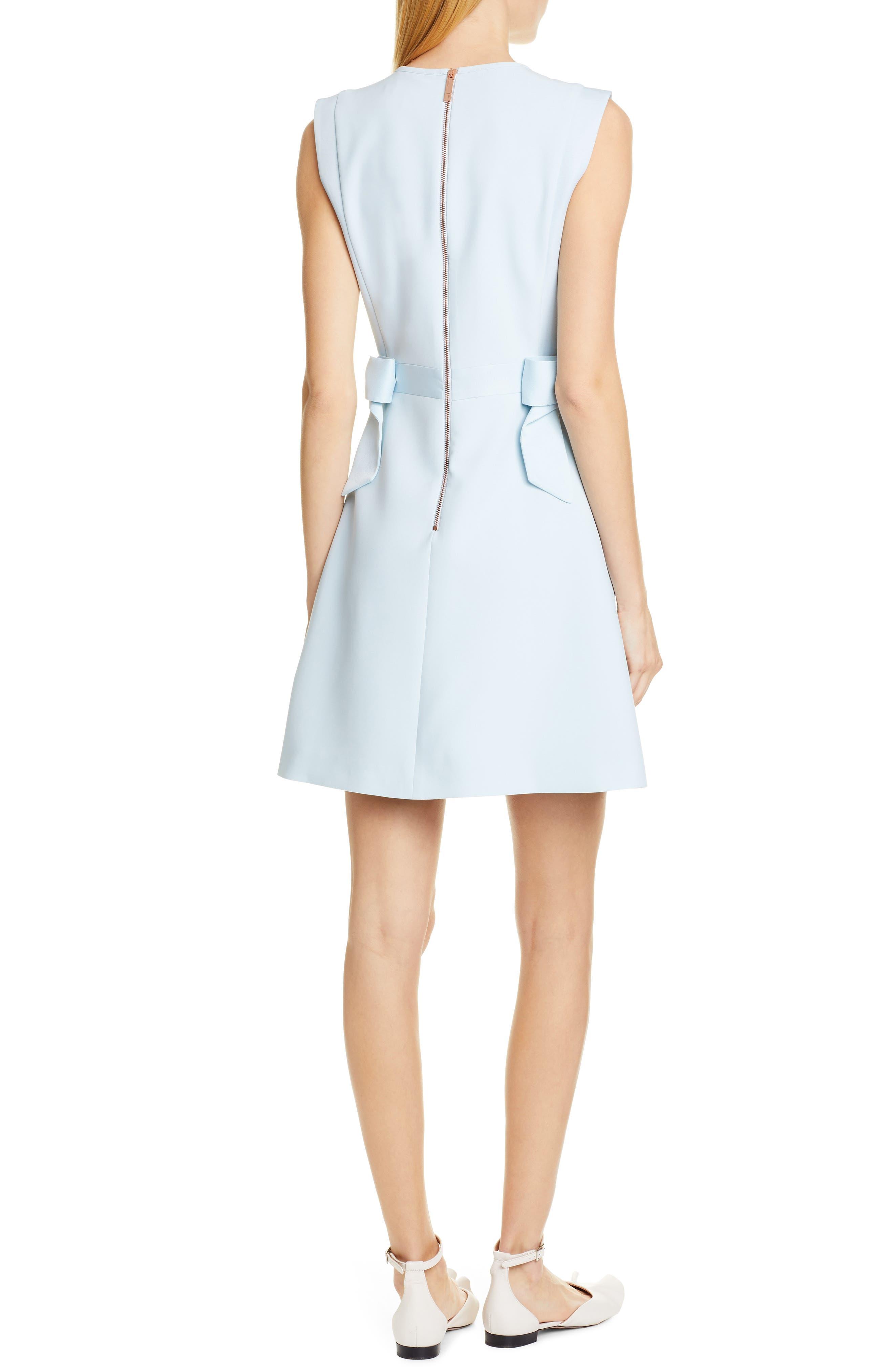 TED BAKER LONDON, Meline Side Bow Detail Dress, Alternate thumbnail 2, color, MINT