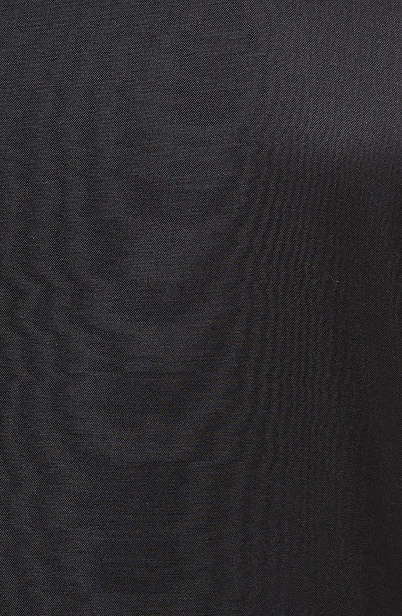TED BAKER LONDON, Josh Trim Fit Wool & Mohair Tuxedo, Alternate thumbnail 7, color, BLACK