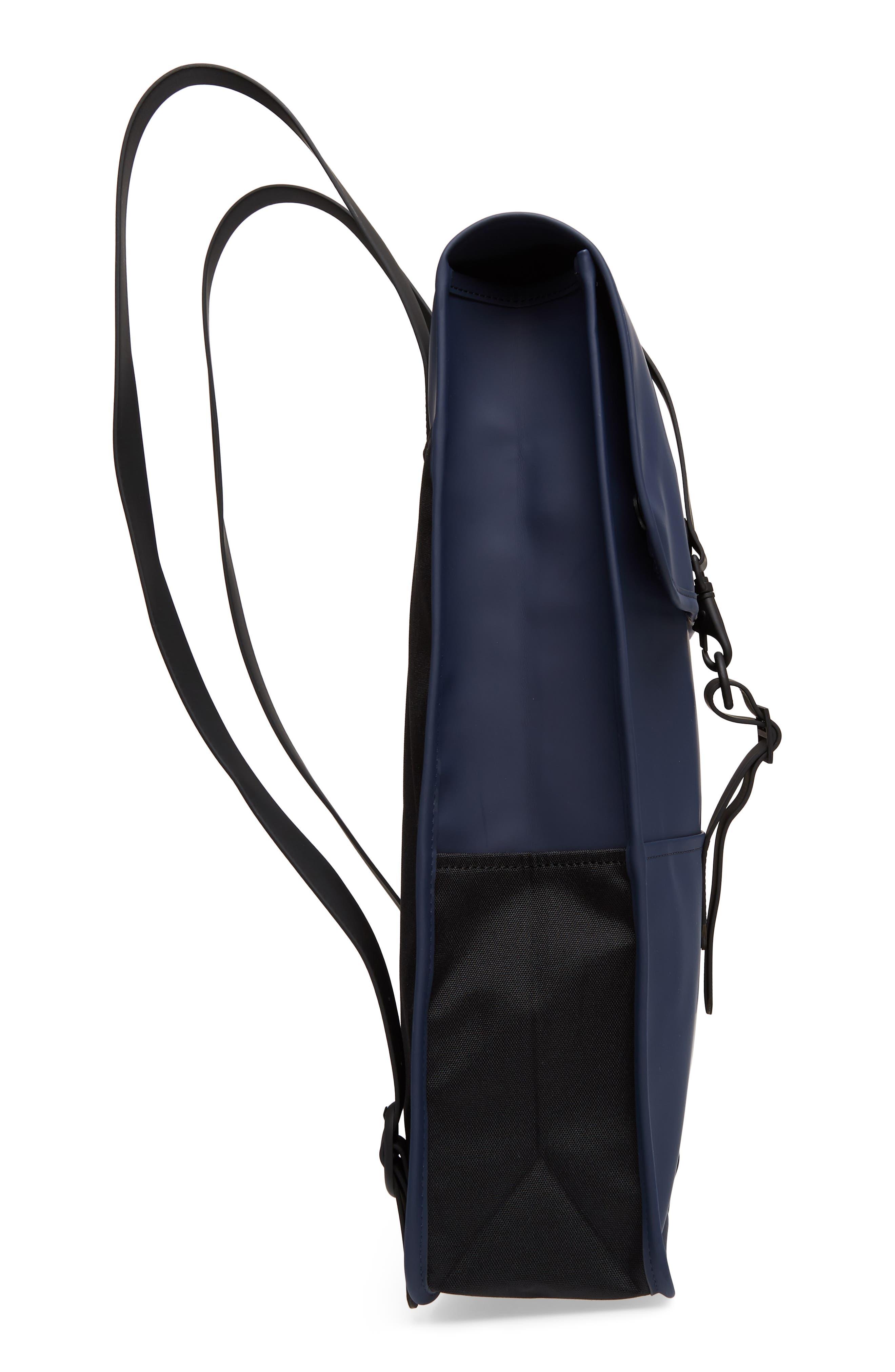 RAINS, Waterproof Backpack, Alternate thumbnail 6, color, BLUE