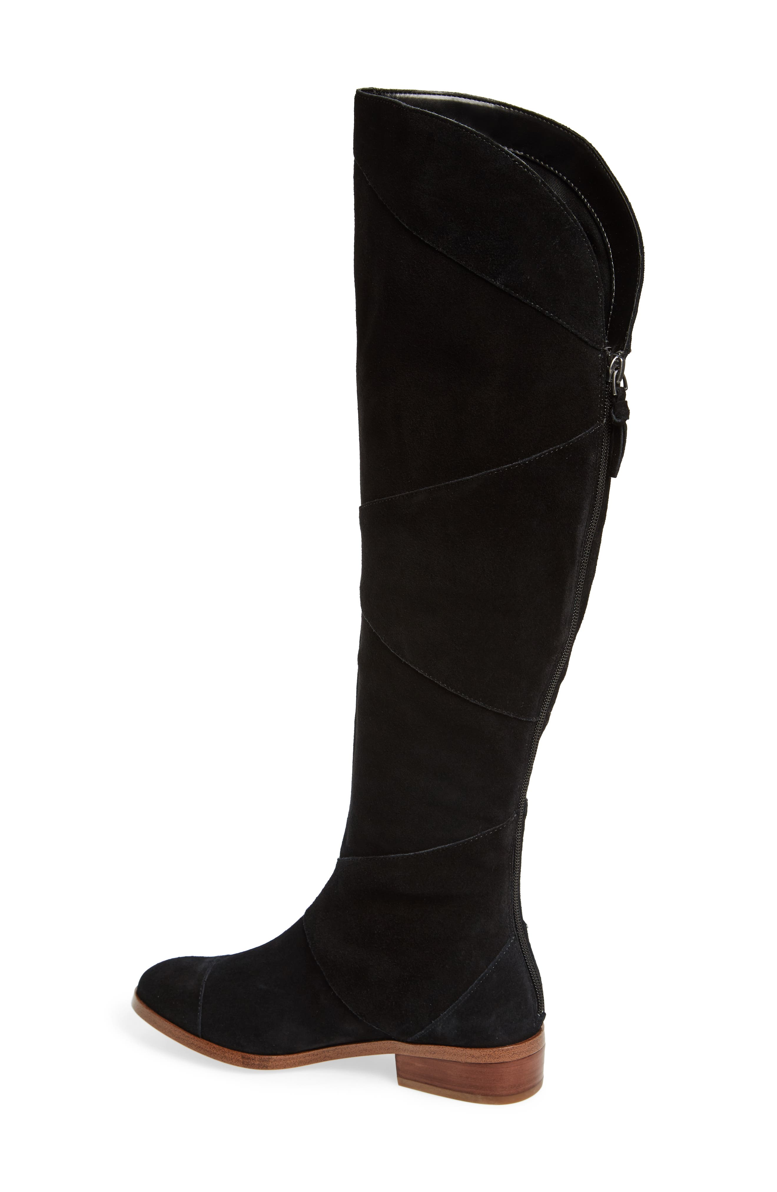 SOLE SOCIETY, Tiff Over the Knee Boot, Alternate thumbnail 2, color, BLACK