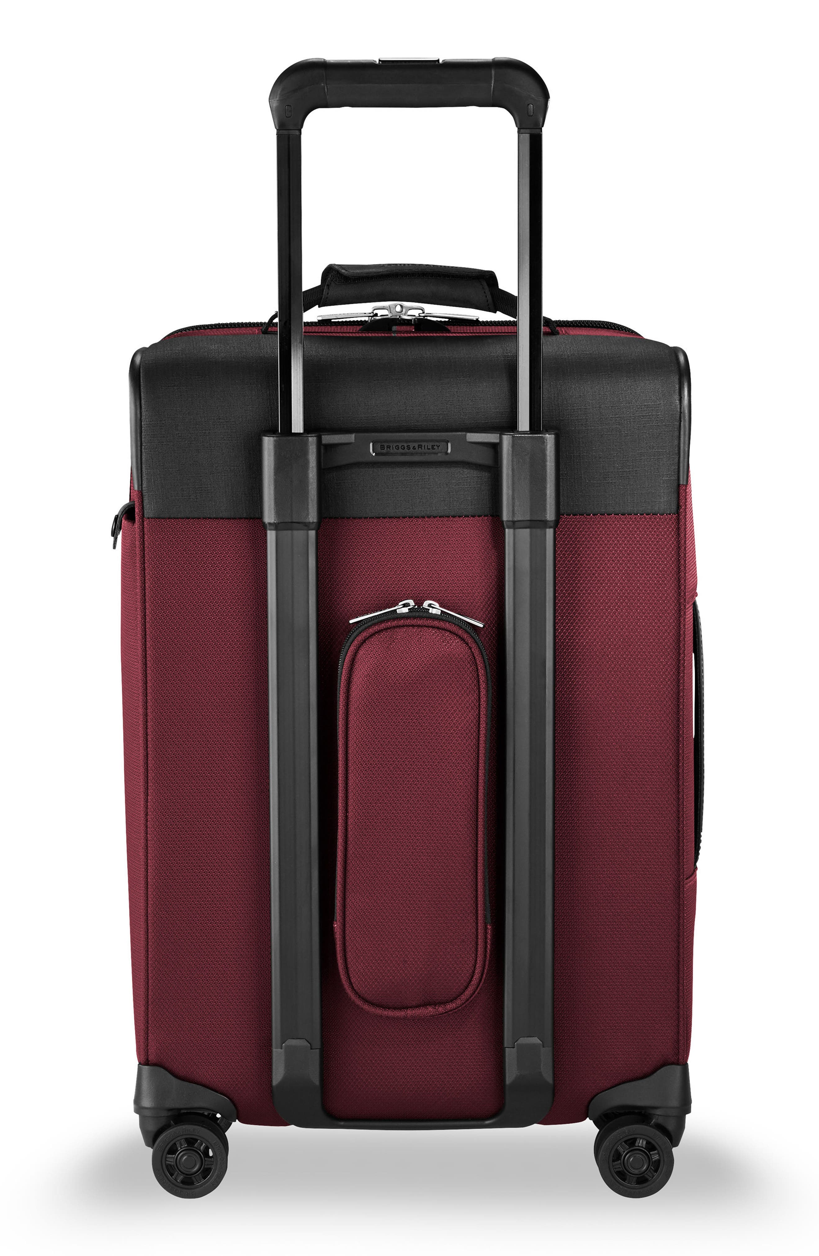 BRIGGS & RILEY, Transcend VX Tall Expandable 22-Inch Spinner Suitcase, Alternate thumbnail 4, color, MERLOT RED