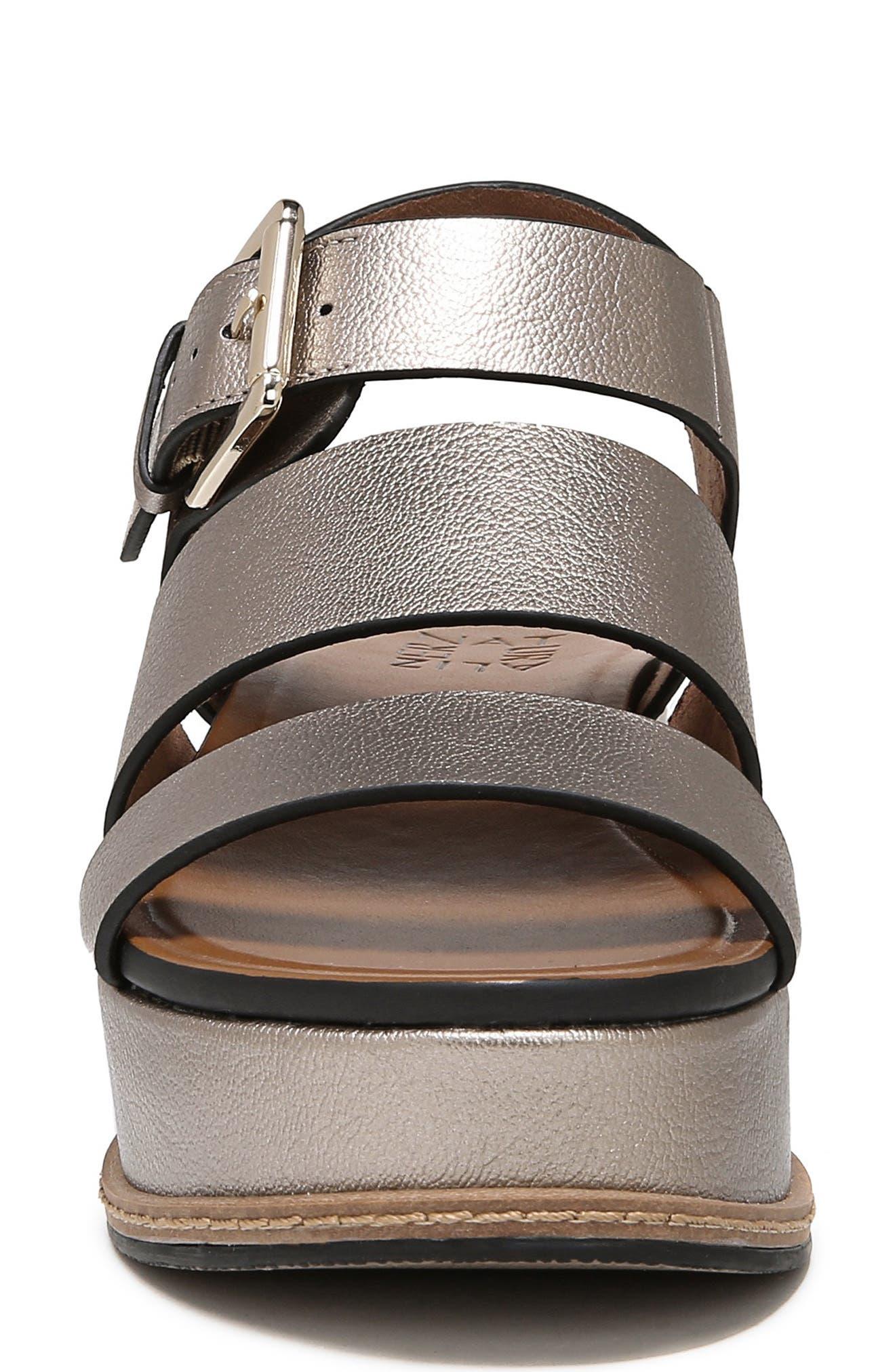 NATURALIZER, Billie Platform Sandal, Alternate thumbnail 4, color, LIGHT BRONZE METAL