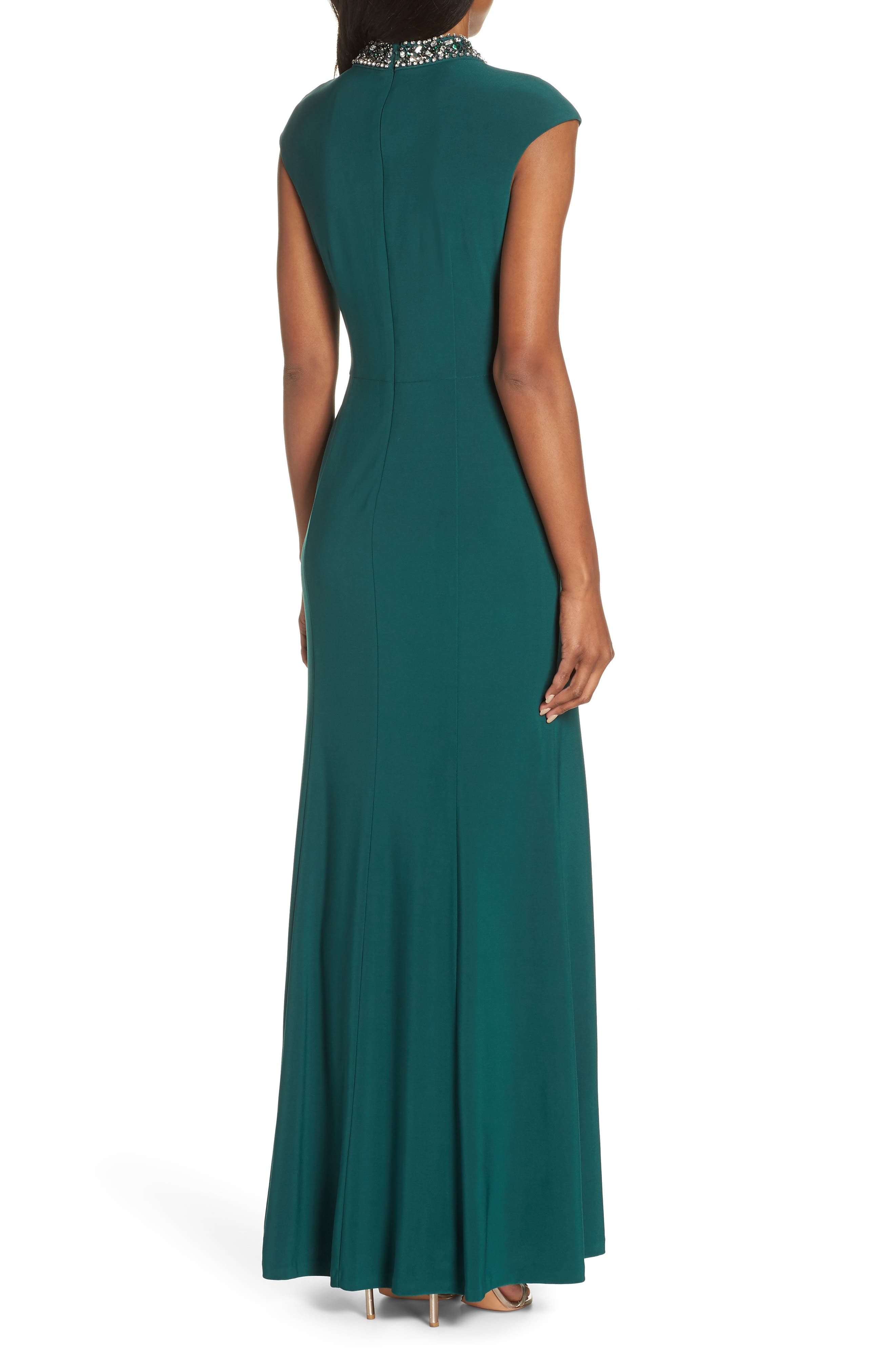 VINCE CAMUTO, Cap Sleeve Gown, Alternate thumbnail 2, color, 301