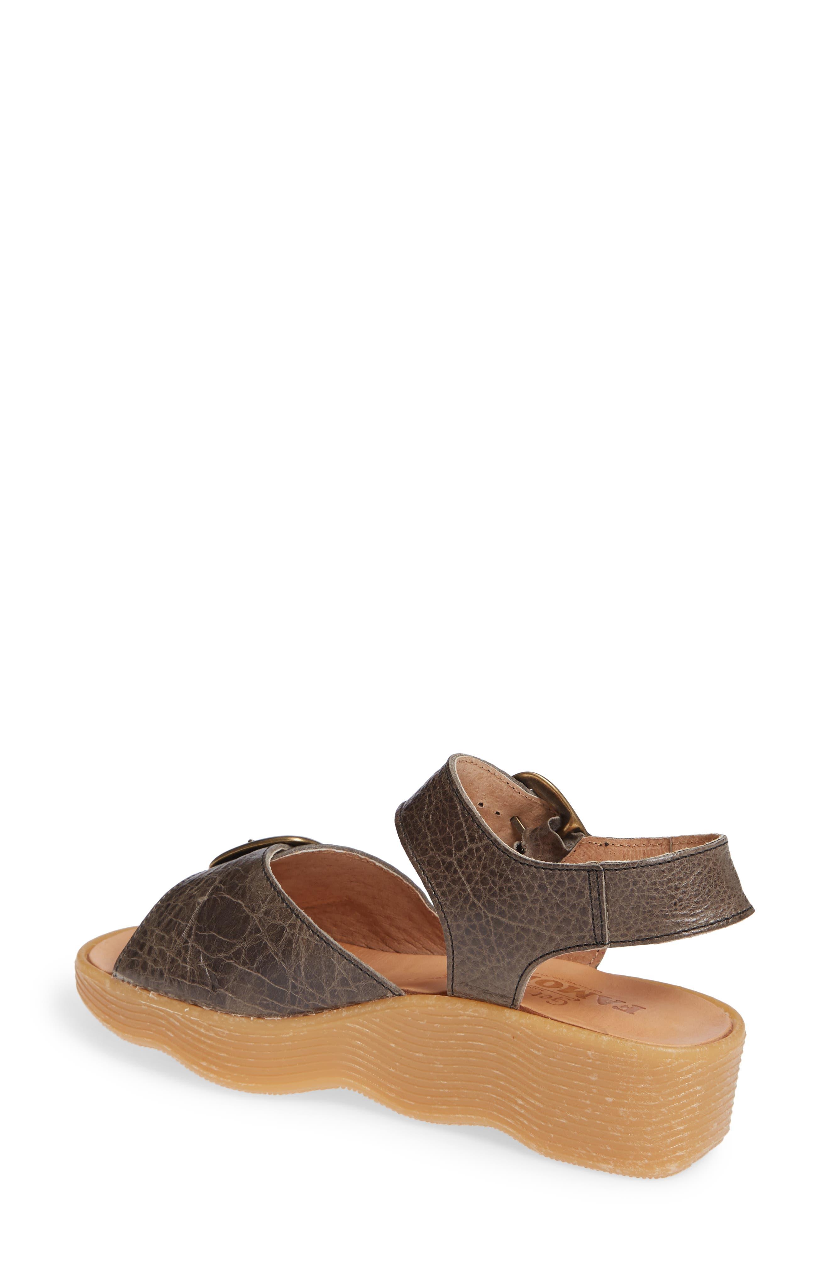 FAMOLARE, Double Play Platform Sandal, Alternate thumbnail 2, color, STEEL SUEDE