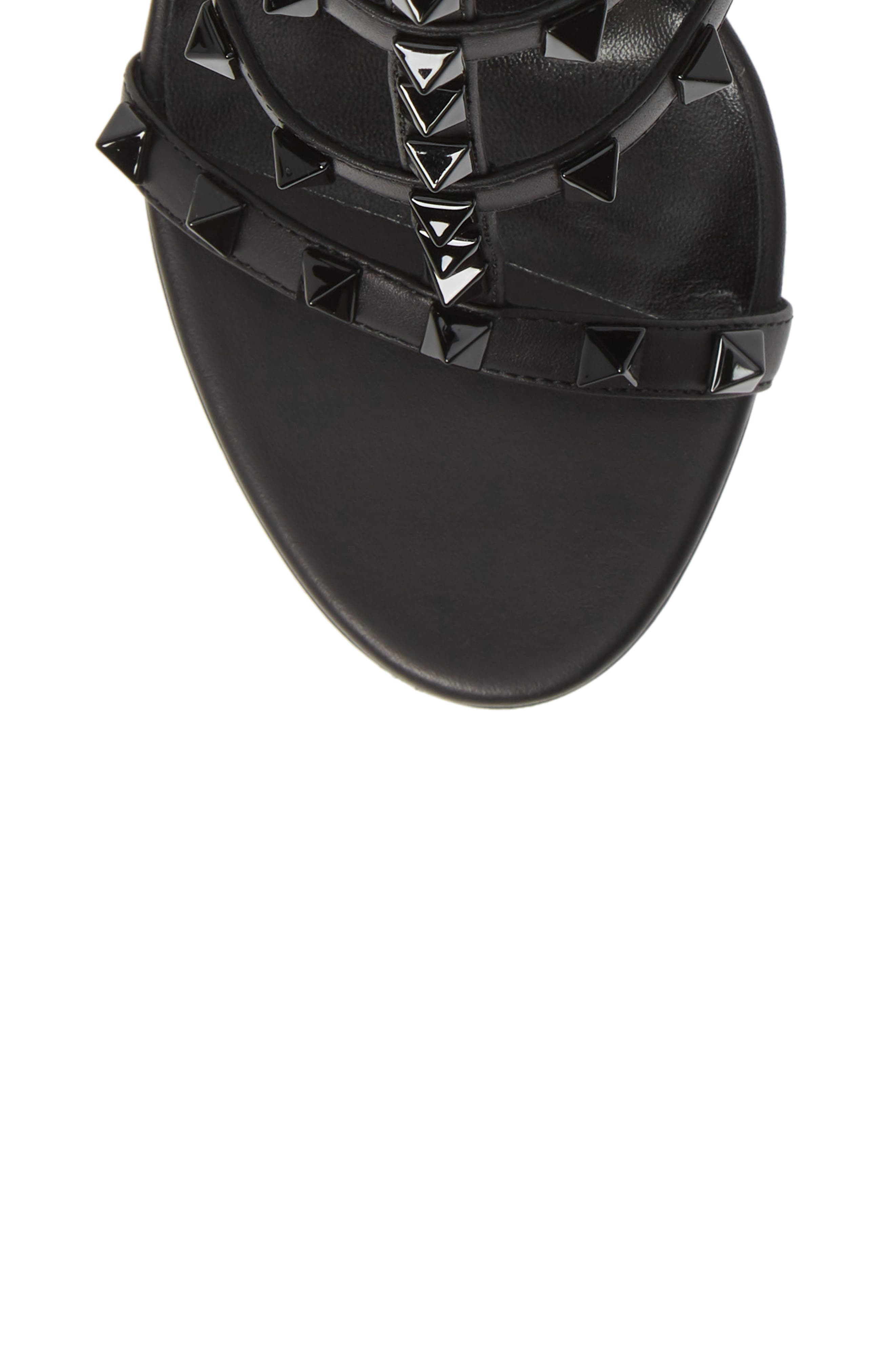 VALENTINO GARAVANI, Rockstud T-Strap Sandal, Alternate thumbnail 5, color, BLACK